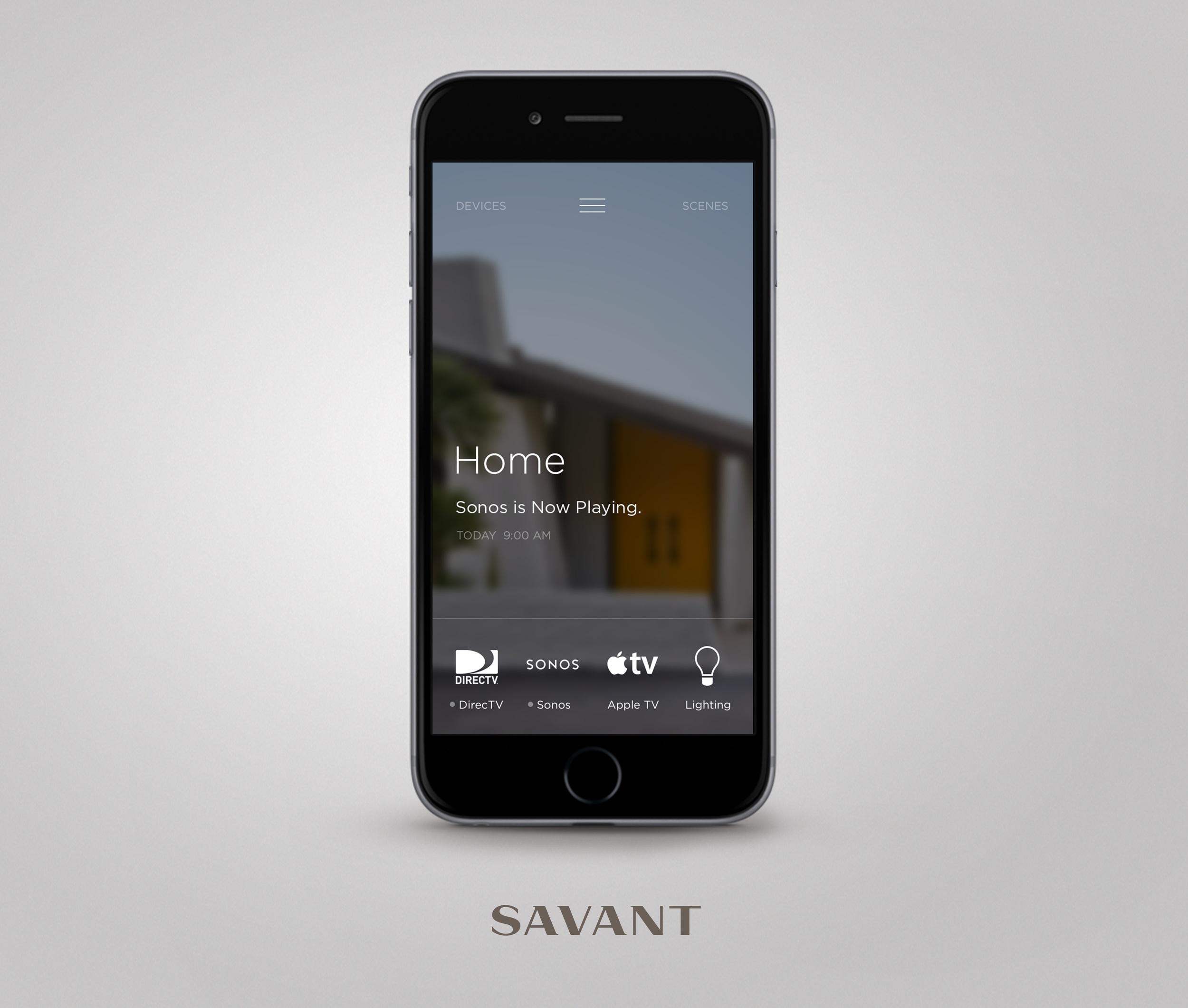 Savant App - Photograph courtesy of Savant