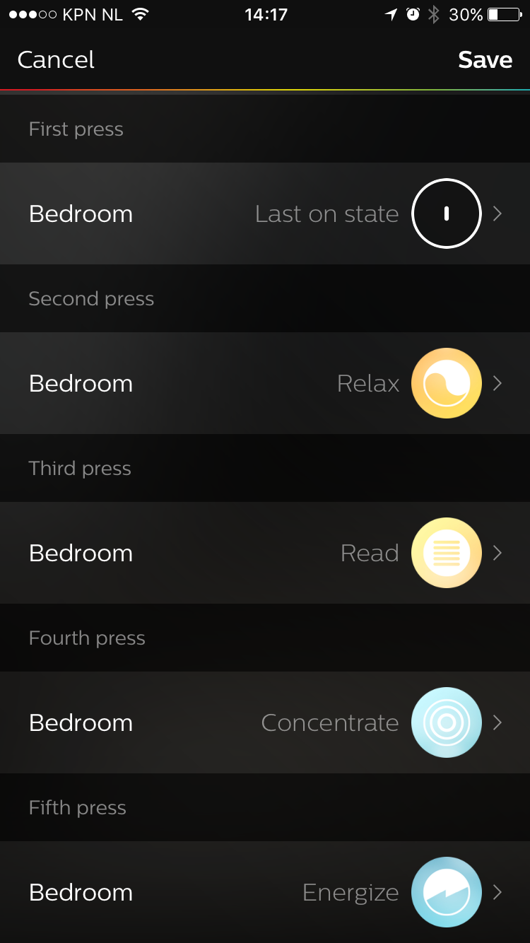 Dimmer Switch preset configuration