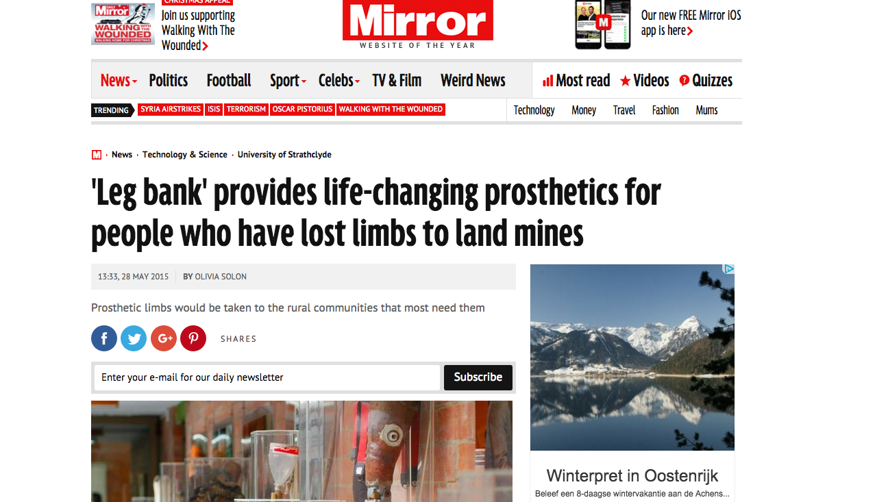 Mirror Uk wrote an article on LegBank. Read the full article  here