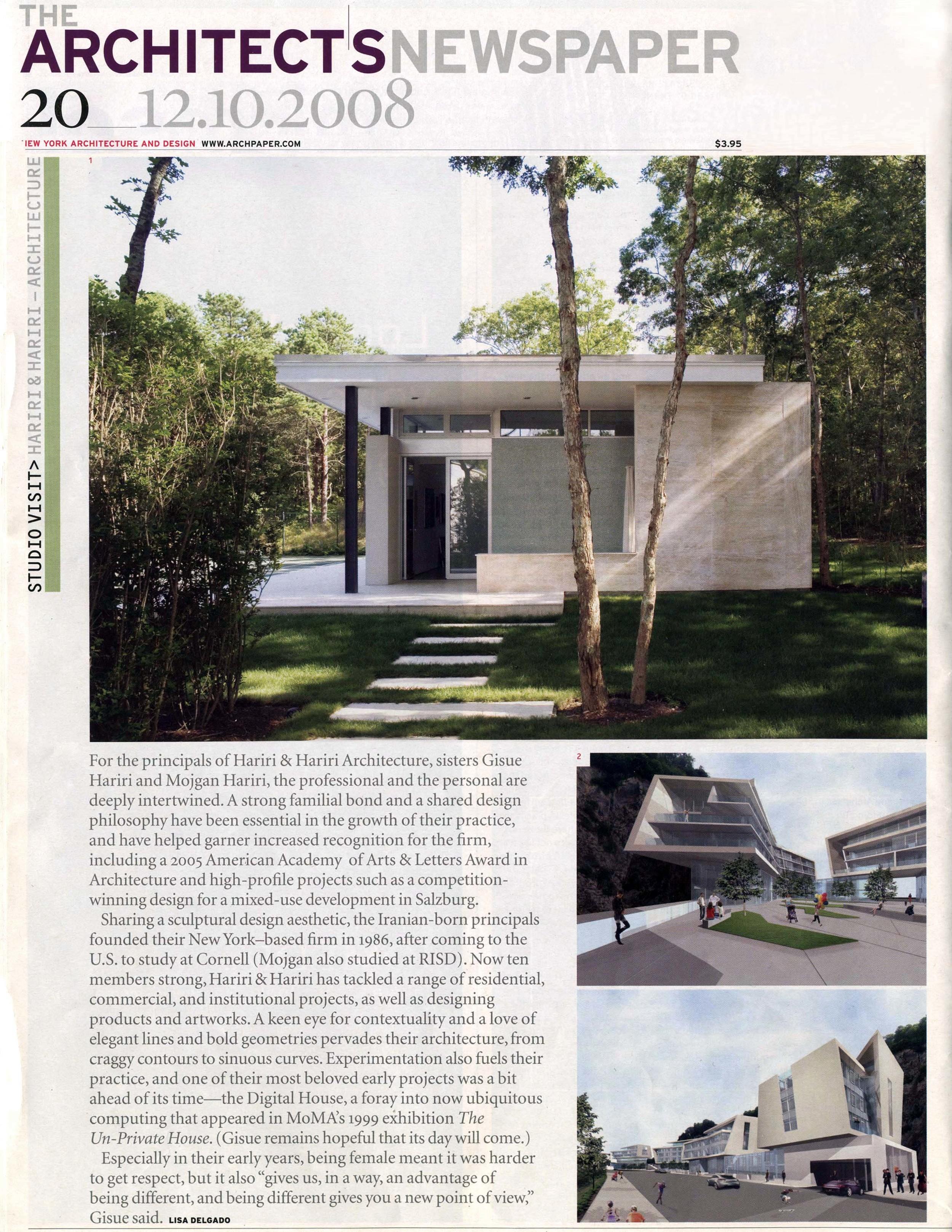 12.08  ARCHITECT'S NEWSPAPER