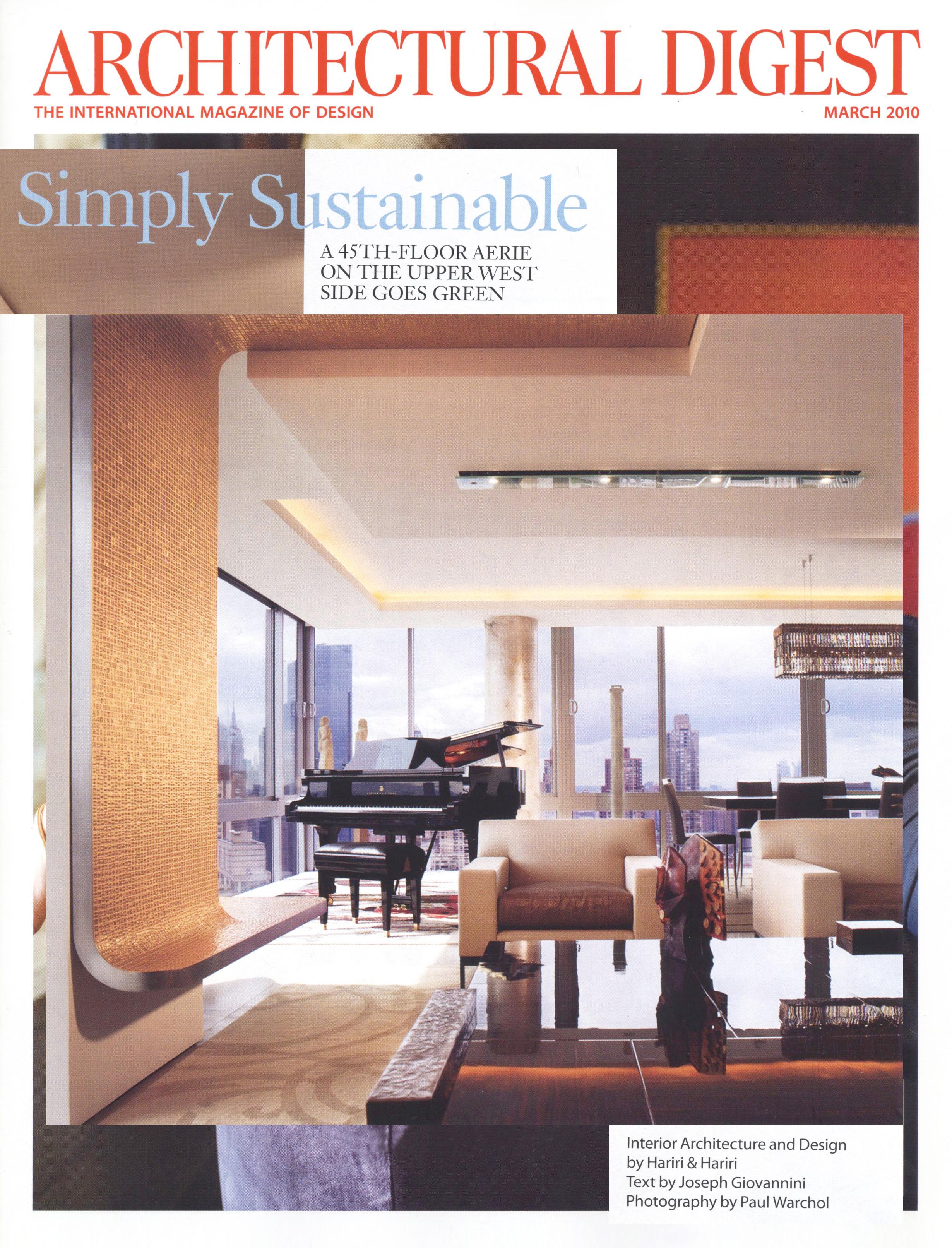 architectural digest magazine hariri & hariri architecture