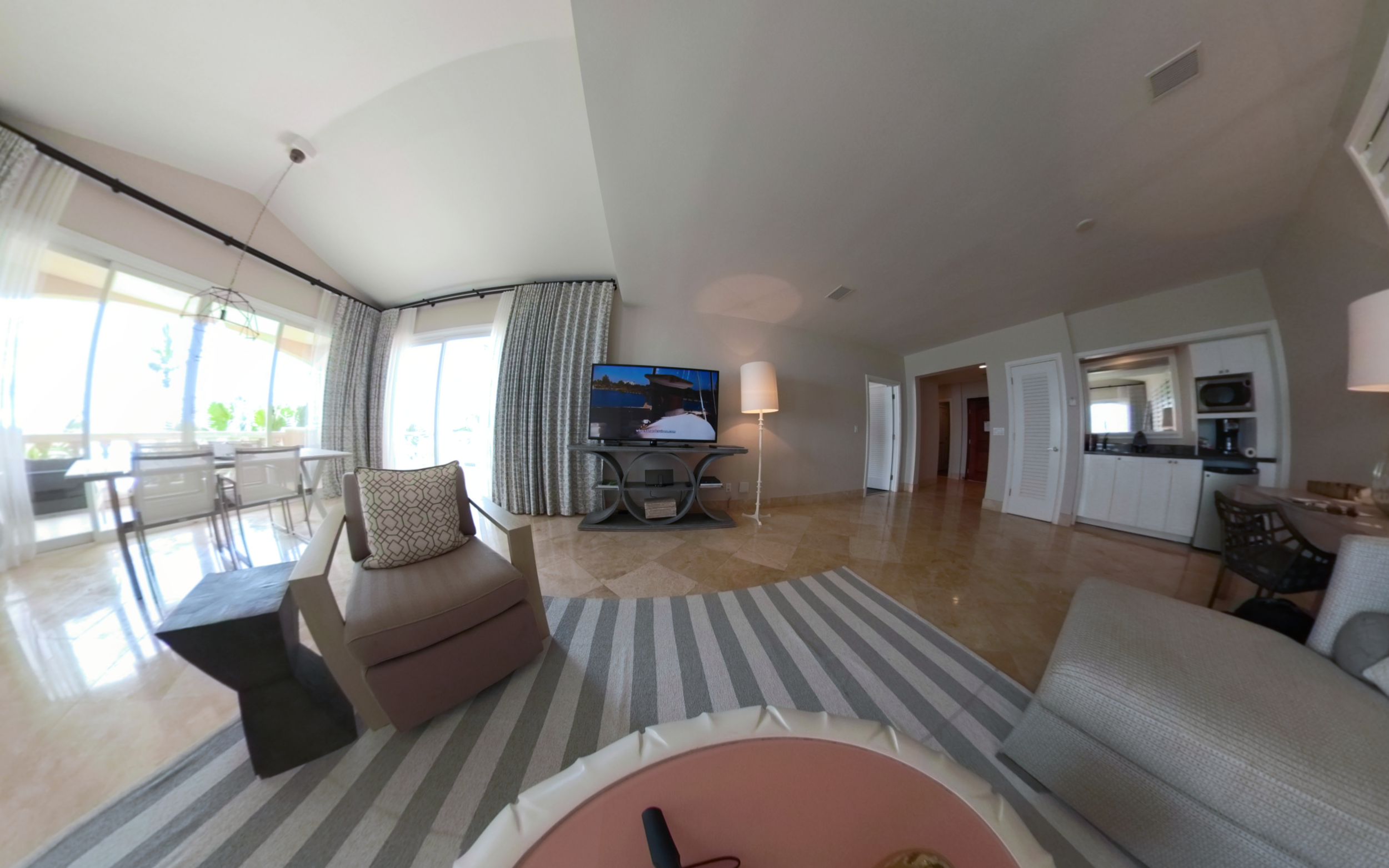 Grace Bay Living Area, Turks and Caicos - Click for VR 360