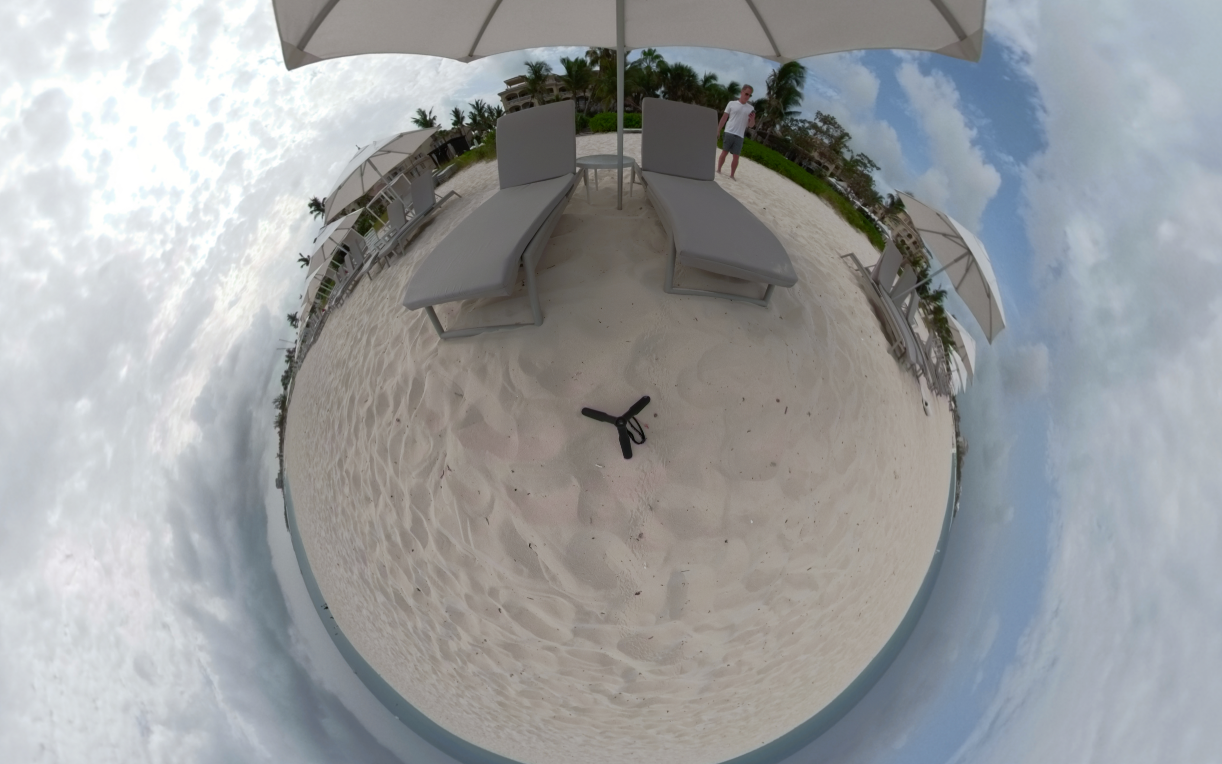 Grace Bay Beach Lounge Chairs, Tours and Caicos - Click or VR 360