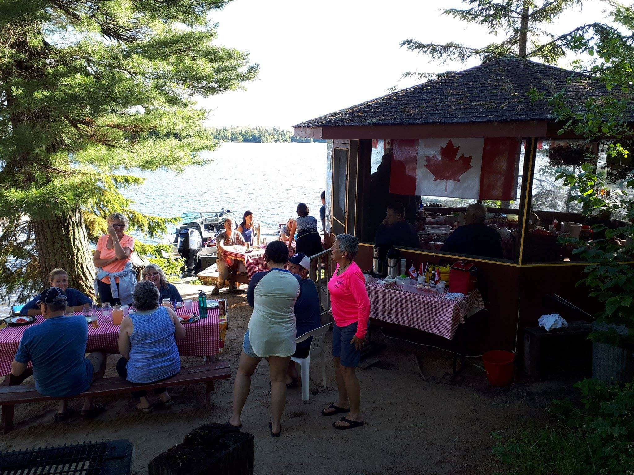 Good food, good friends... a nice celebration of Canada's 150th.