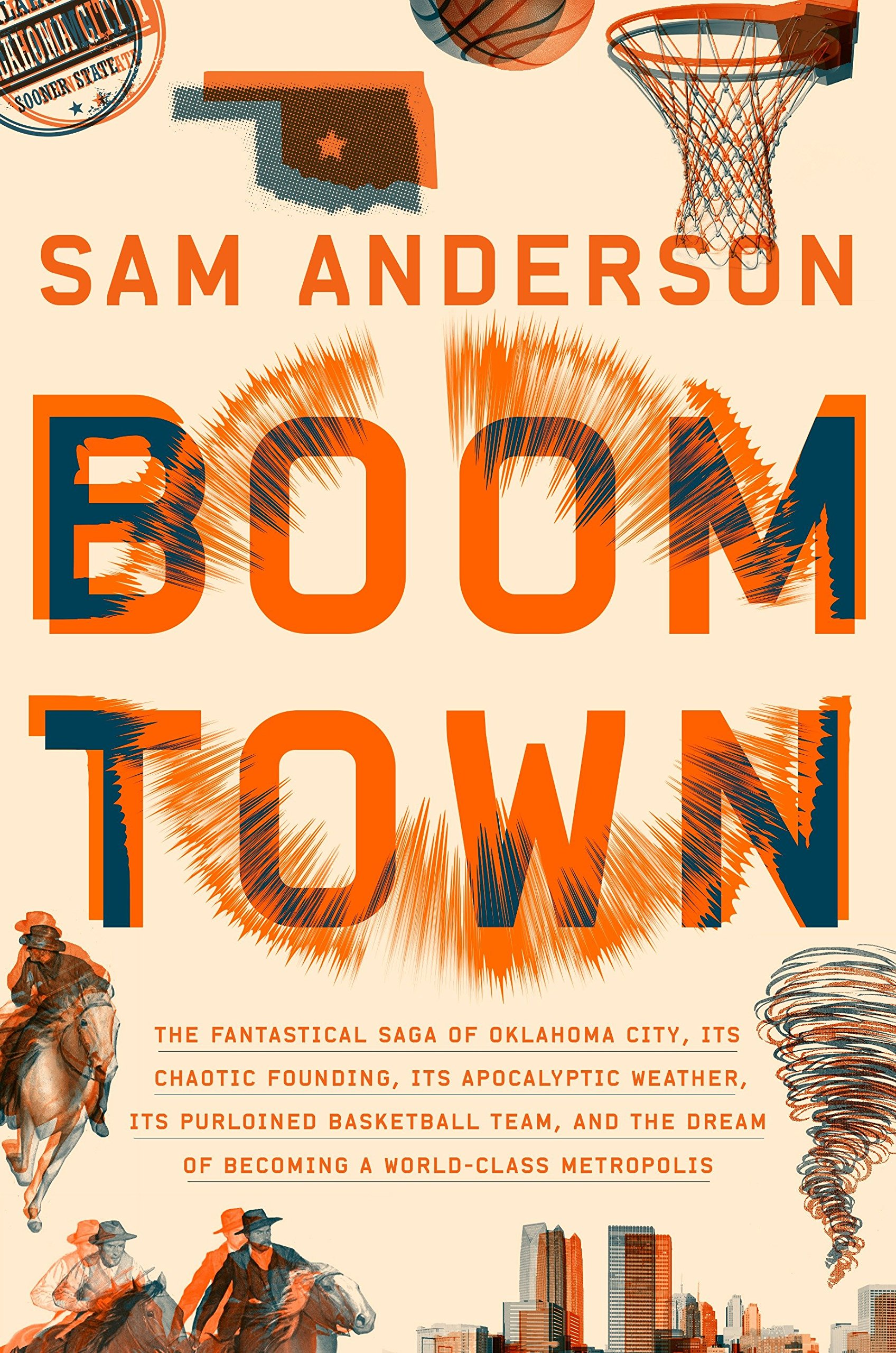 """- """"Maybe you didn't know that Oklahoma City was the key to everything. But it is. Boom Town is a bone-shaking thrill ride through civic history."""" — Nicholson Baker"""