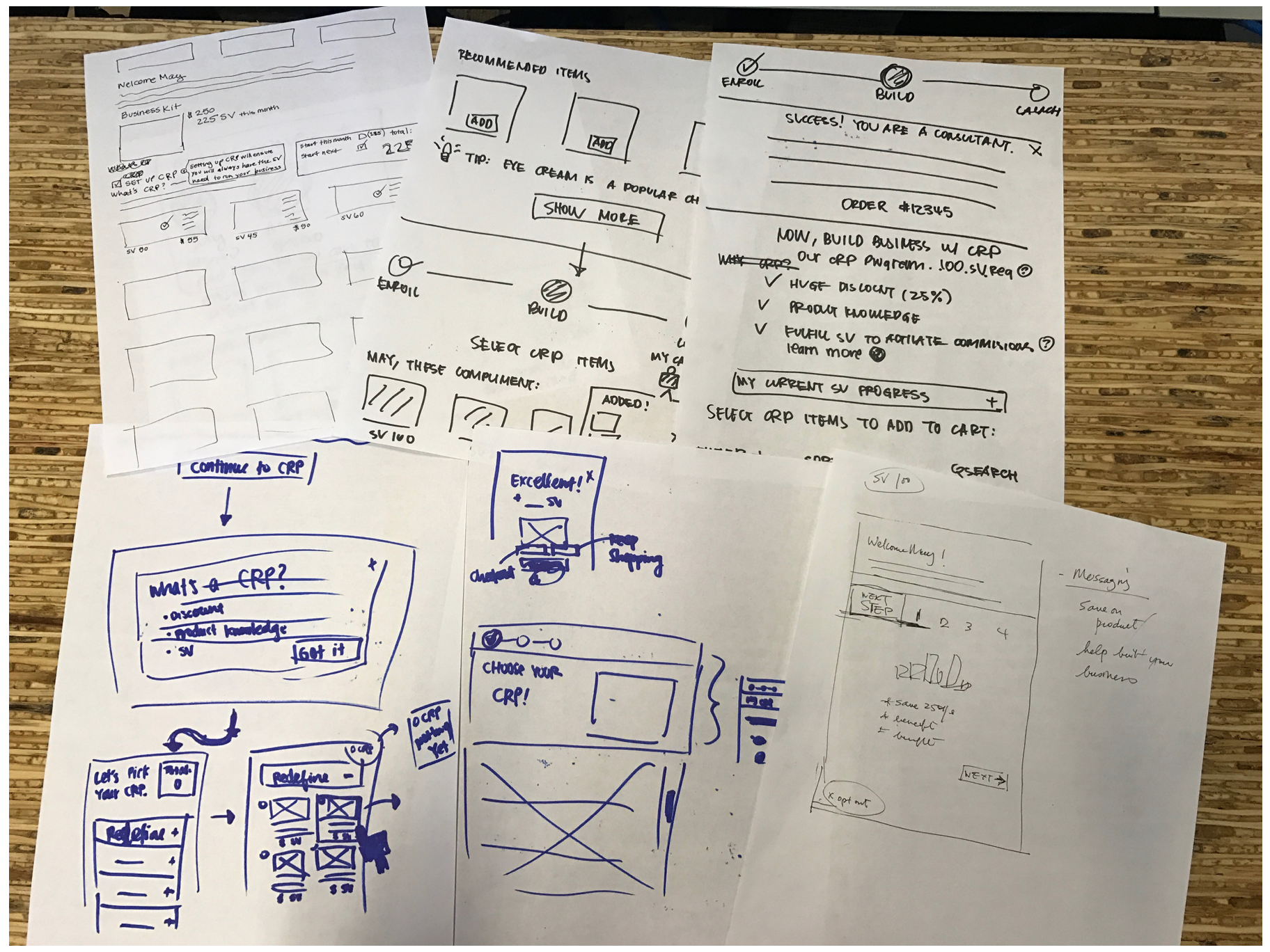 Sketches from our design studio