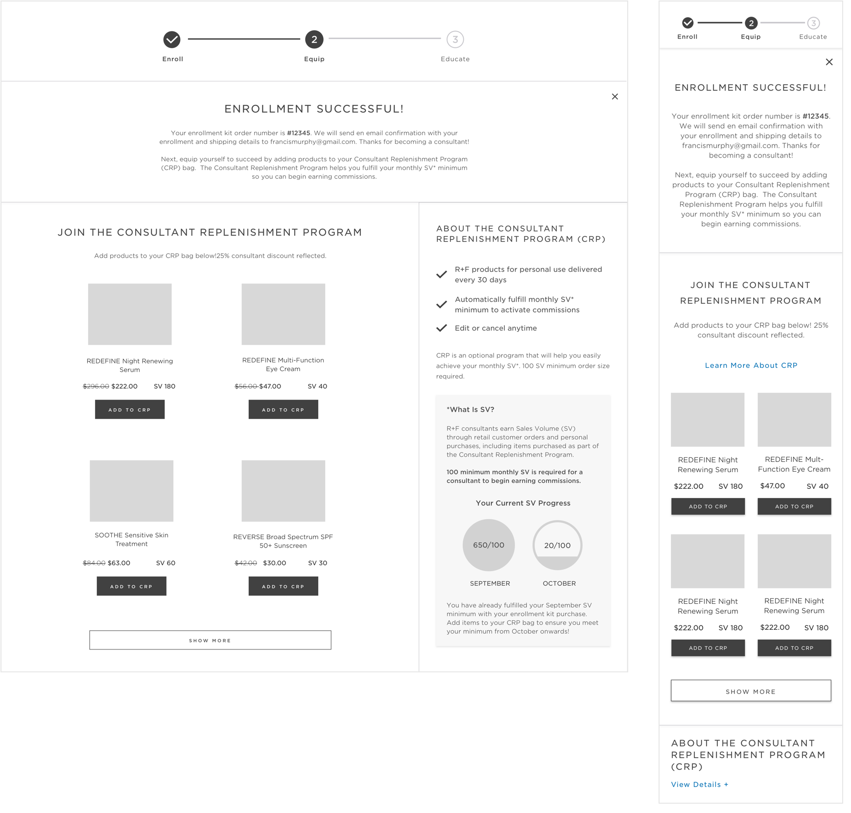 An example of some of my wireframes
