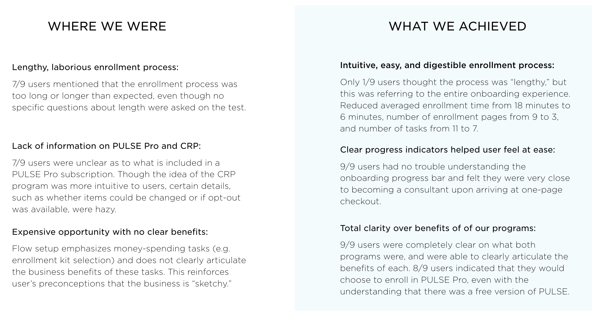 A sampling of our key successes