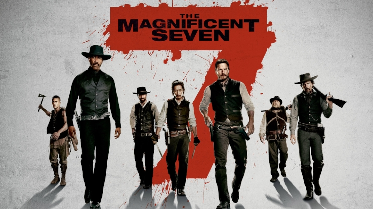 The Magnificent Seven  shot its way to #1 with an estimated 34.7 million.