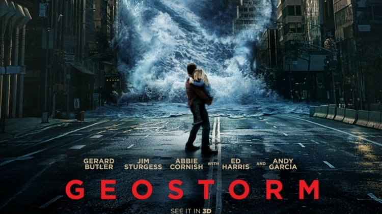 Don't be fooled. Geostorm is nothing like this exciting looking and extremely misleading poster.