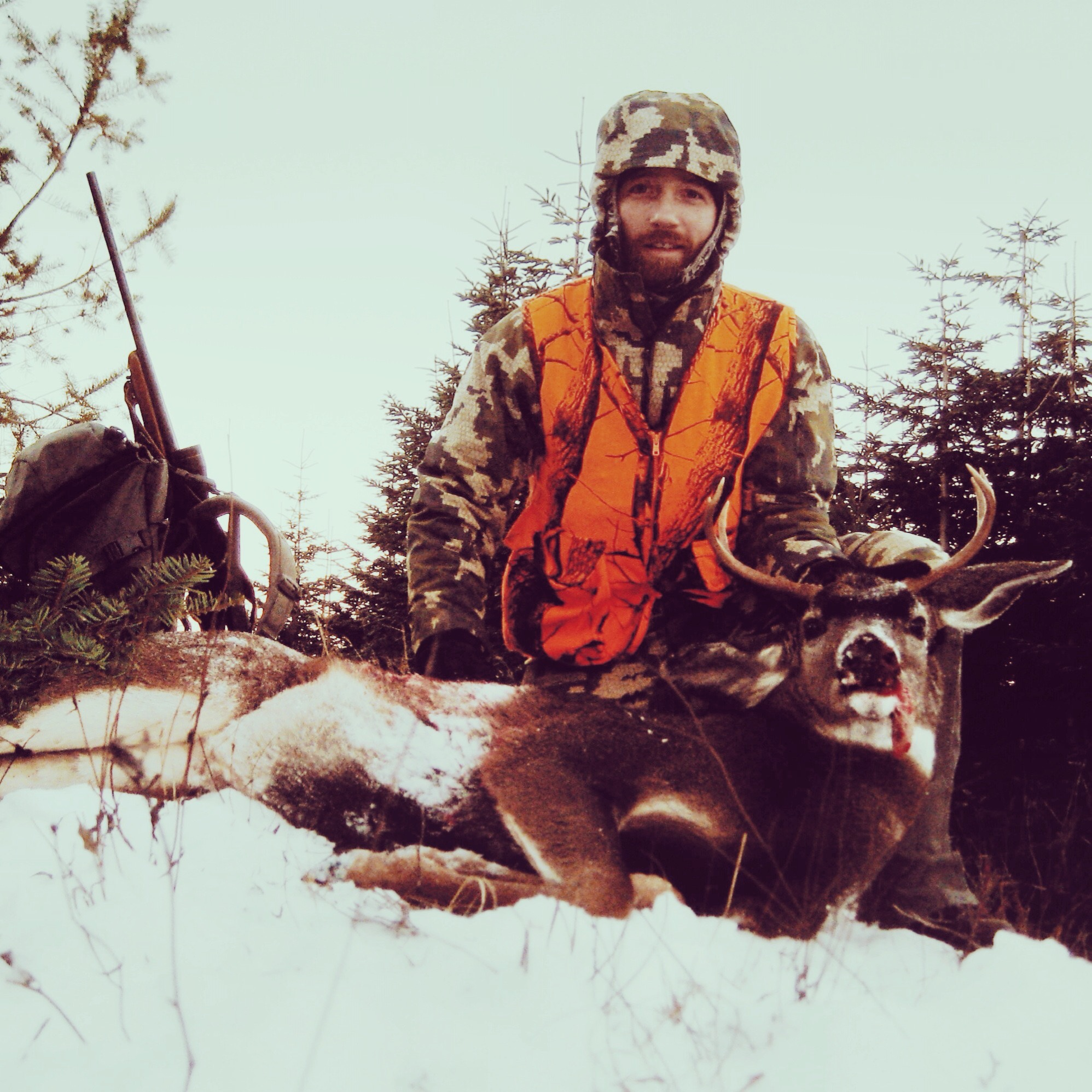 My 2014 Blacktail. Trust me, it was cold.