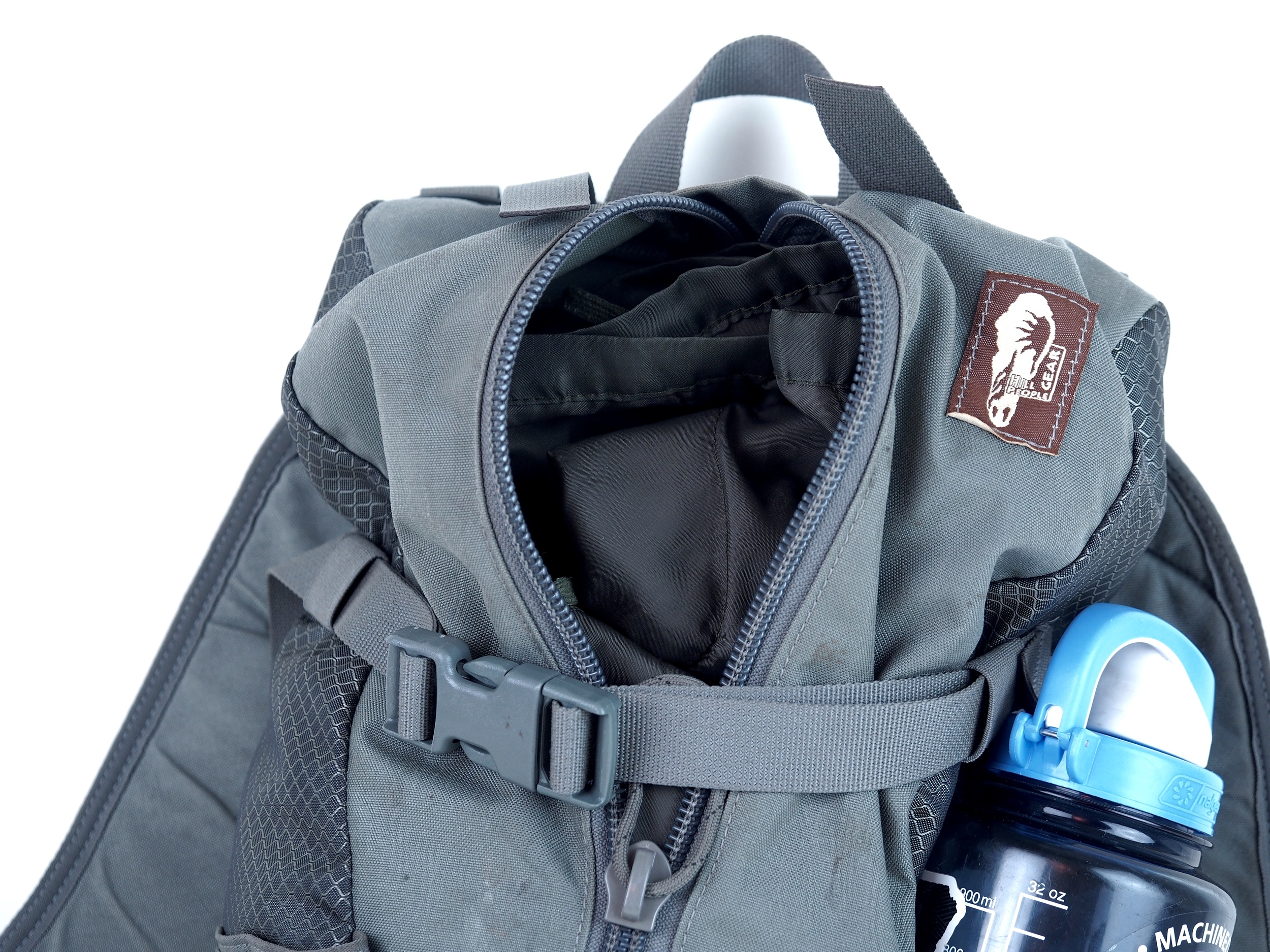 Yes, my bag is dirty...I happen to use it. I use it because it's functional, simple, and provides a great way to carry all my items for a day hike or day hunt. Yours will have stains as well!