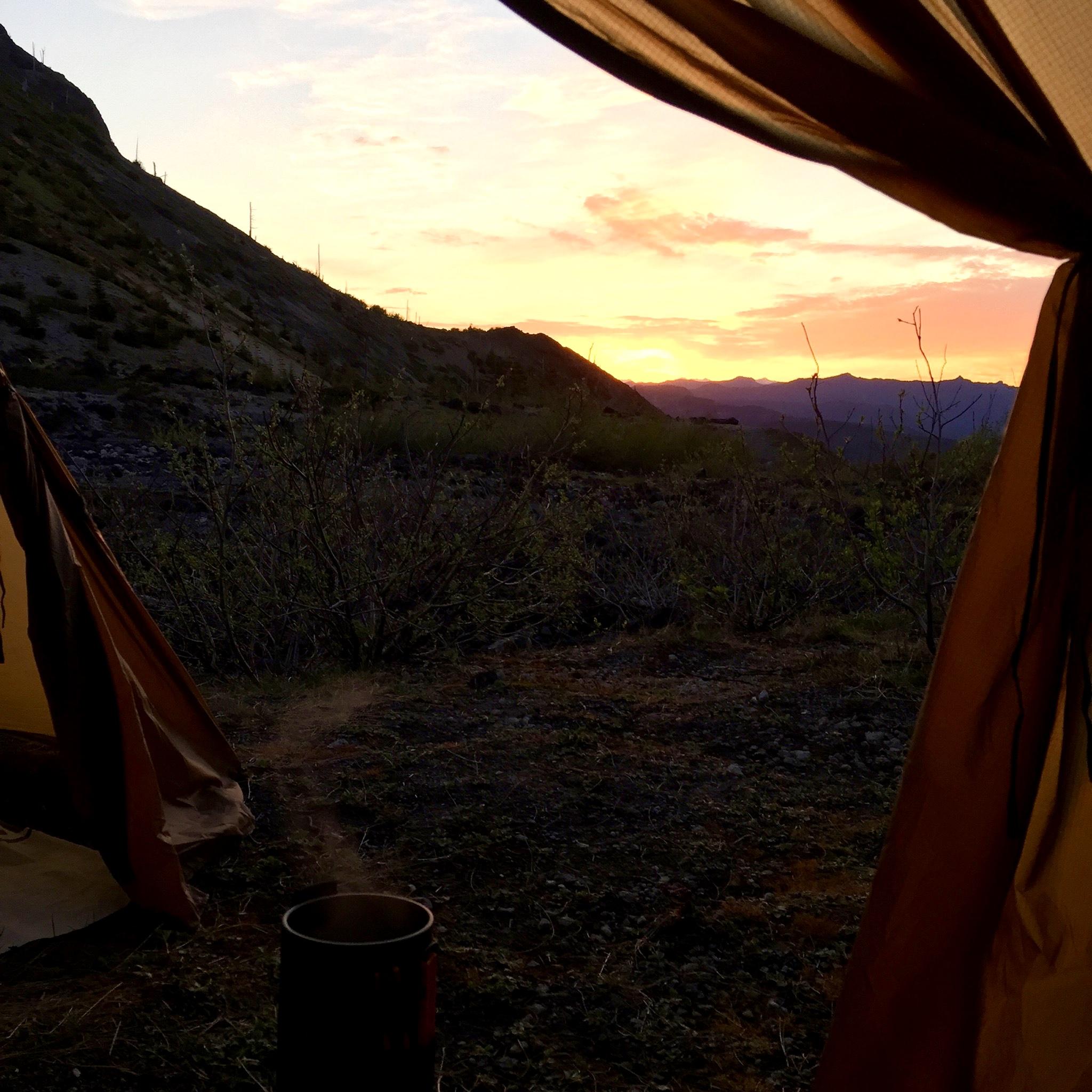 Day 3 sunrise. Photo by Chris Murray.