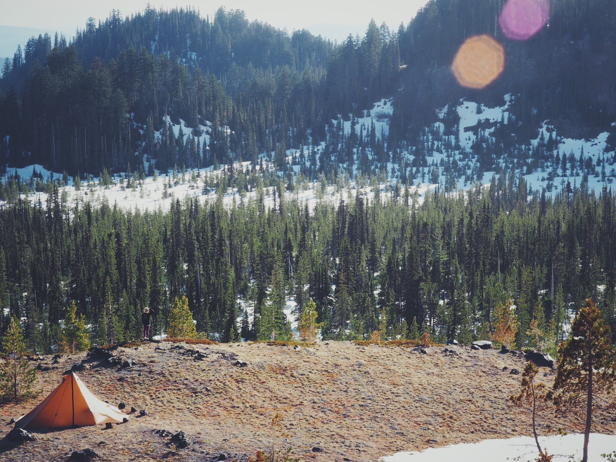 King of the Mountain? The Seek Outside Redcliff overlooking the valley floor. Love this tent!