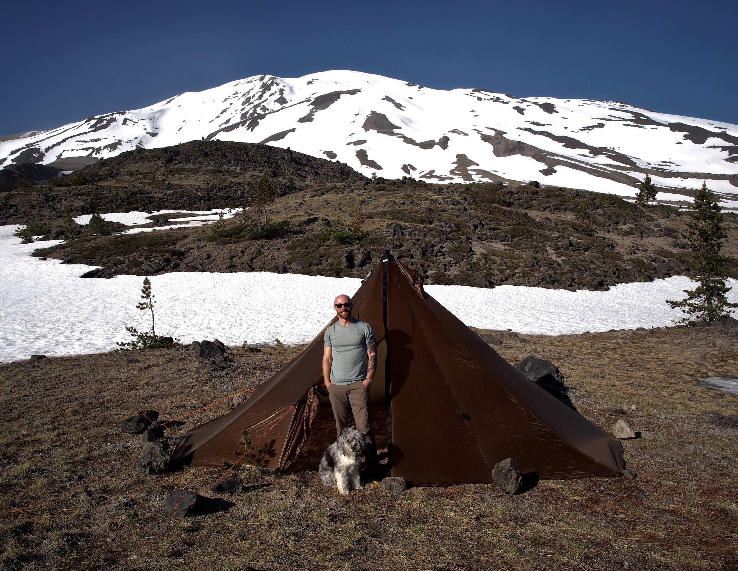 """This is me and this is Stan...and this is my Redcliff on the side of Mount St. Helens. I'm 5'8"""". Tons of room!"""