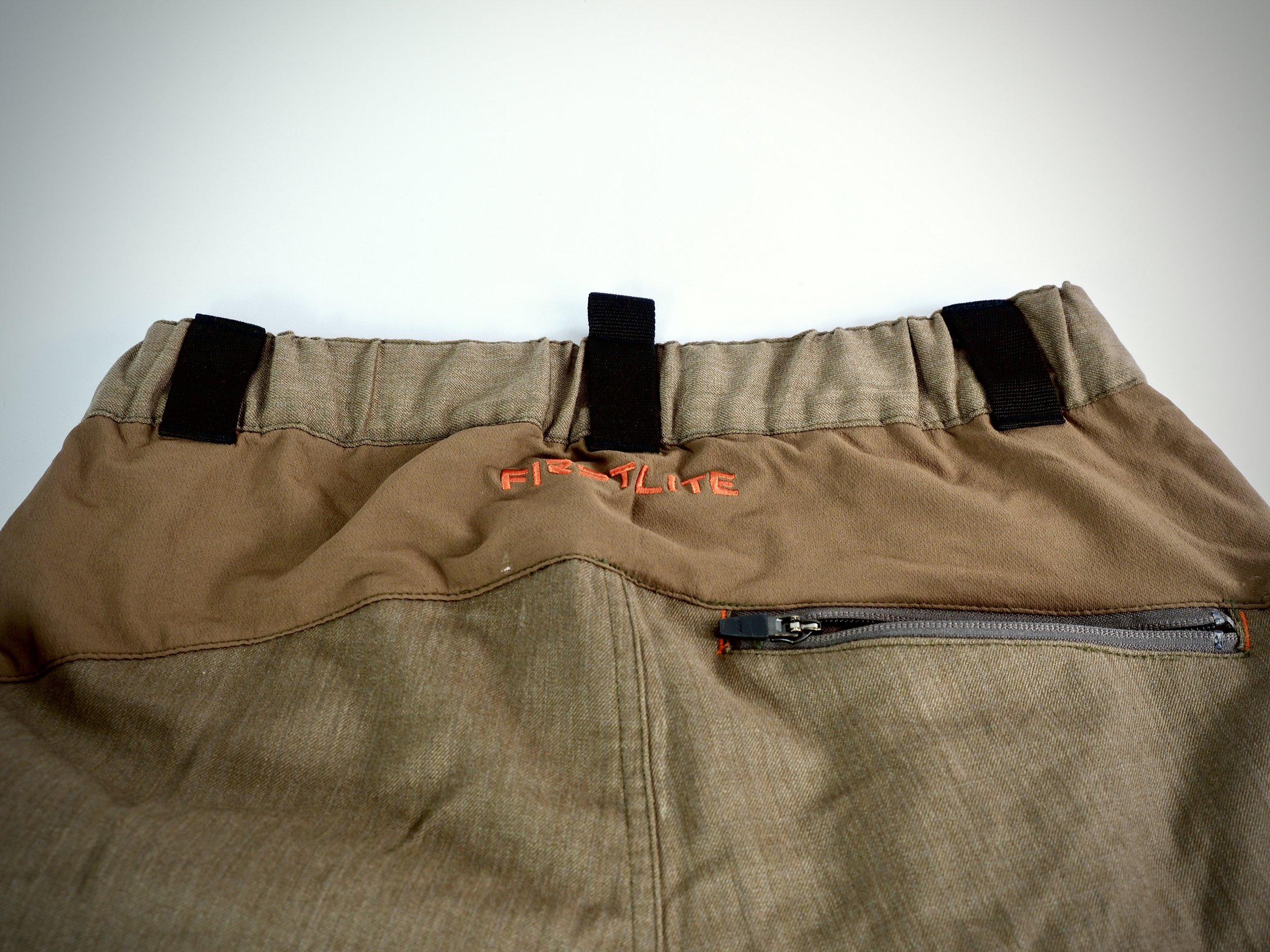 Another shot of the stretch panel and bulky belt loops.