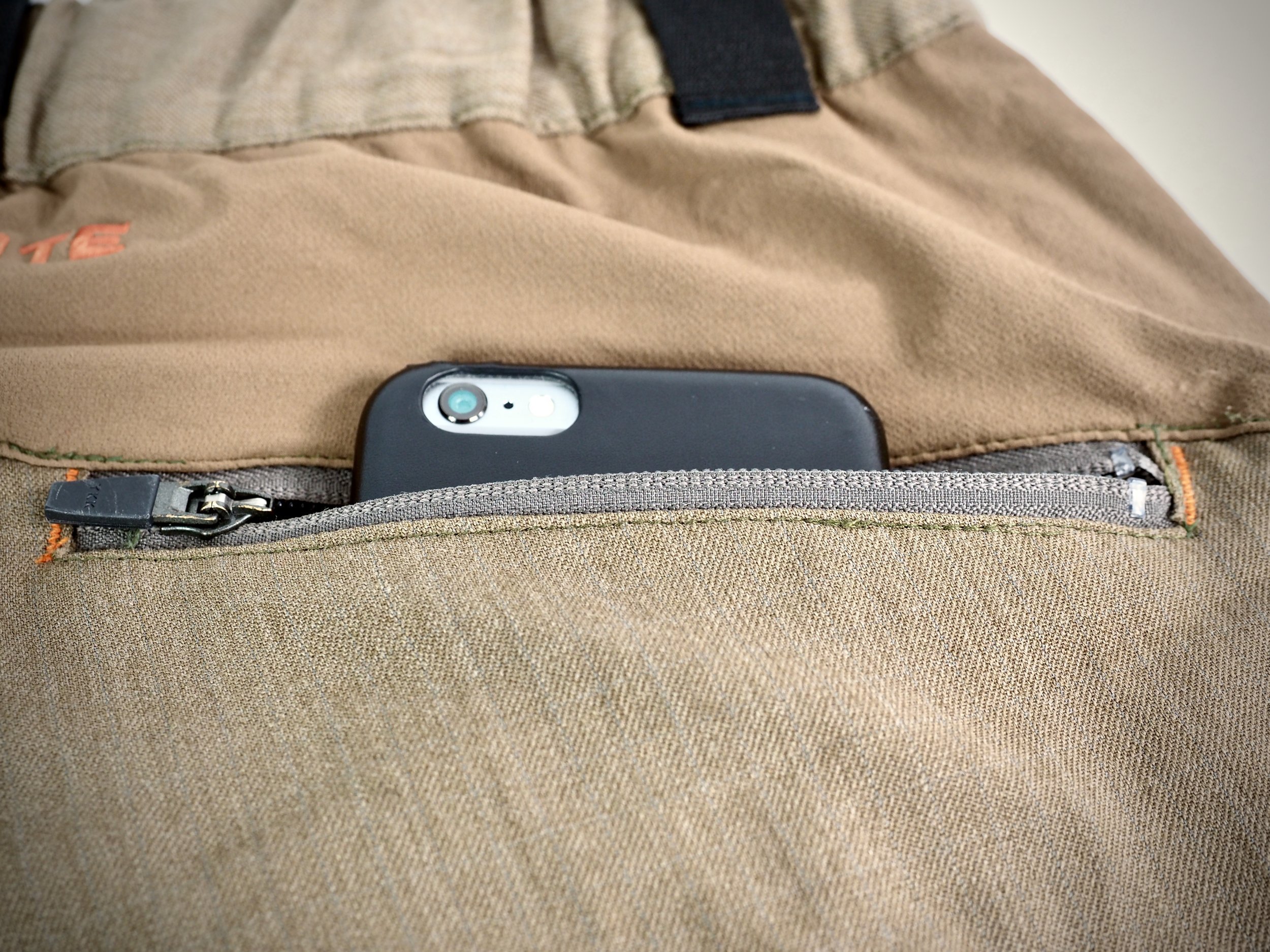 iPhone 6 Plus in comparison to the back pocket. Very usable.