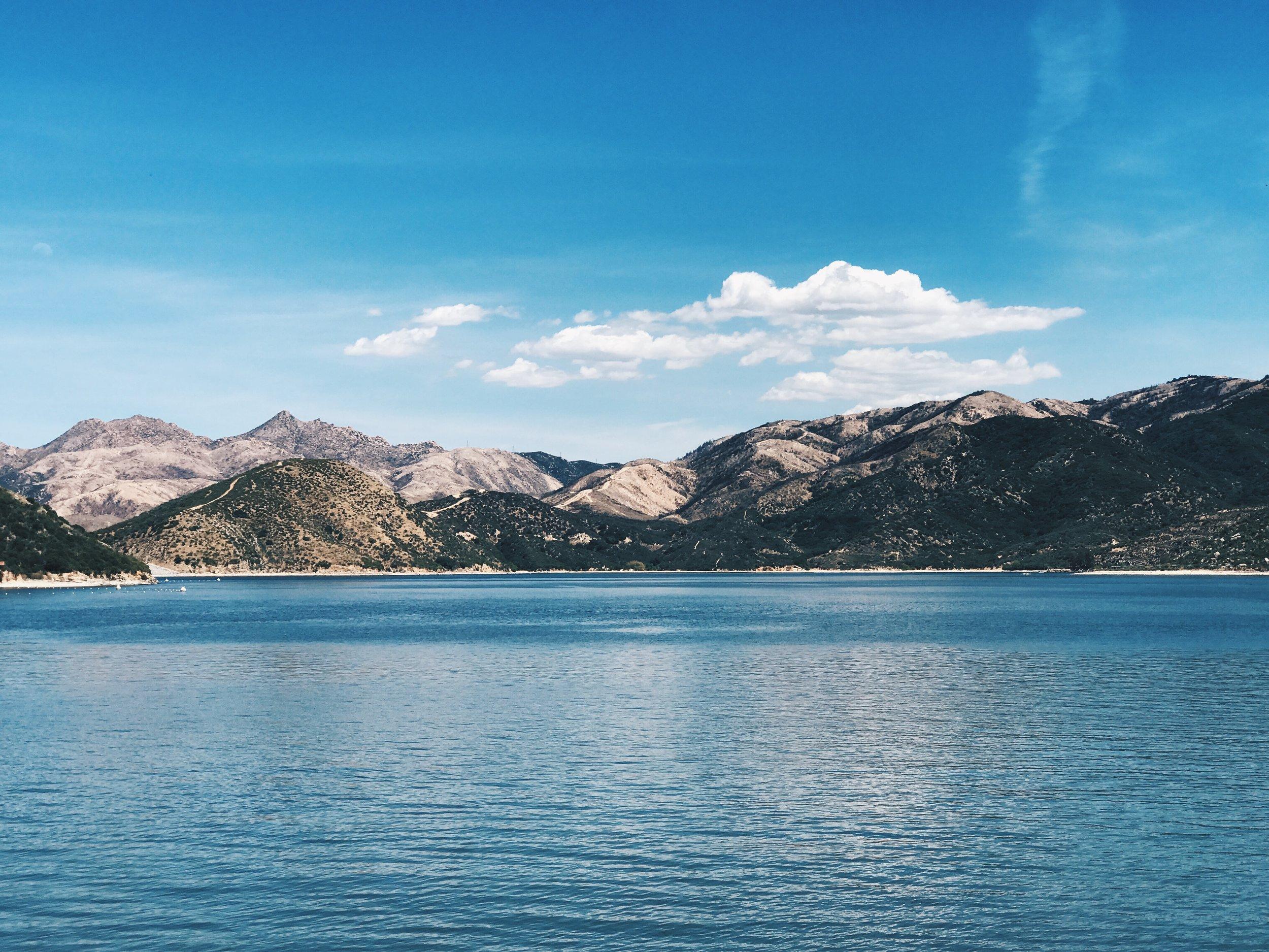 Silverwood Lake. A refreshing swim on a hot day.