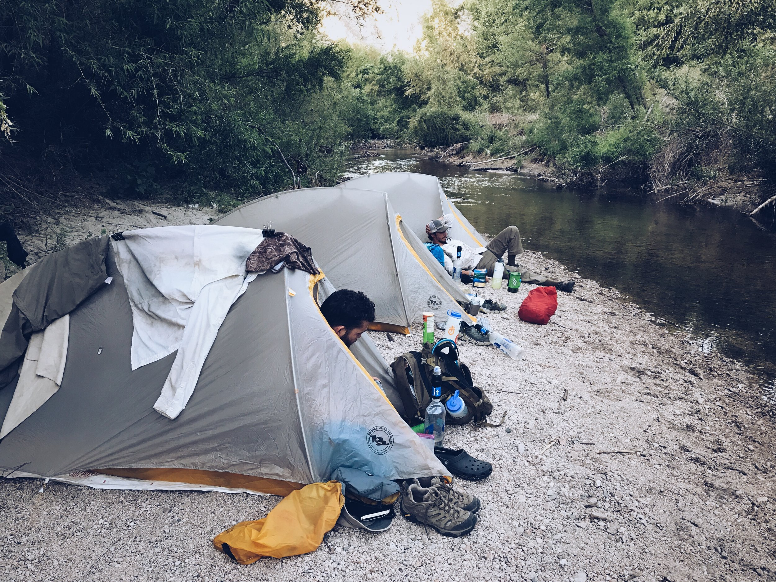 Standard double wall tent for backpacking.