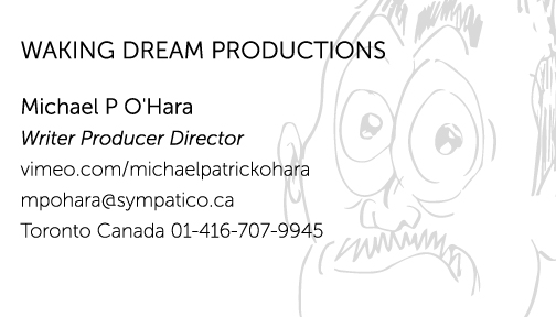 Waking Dream Productions Business card.