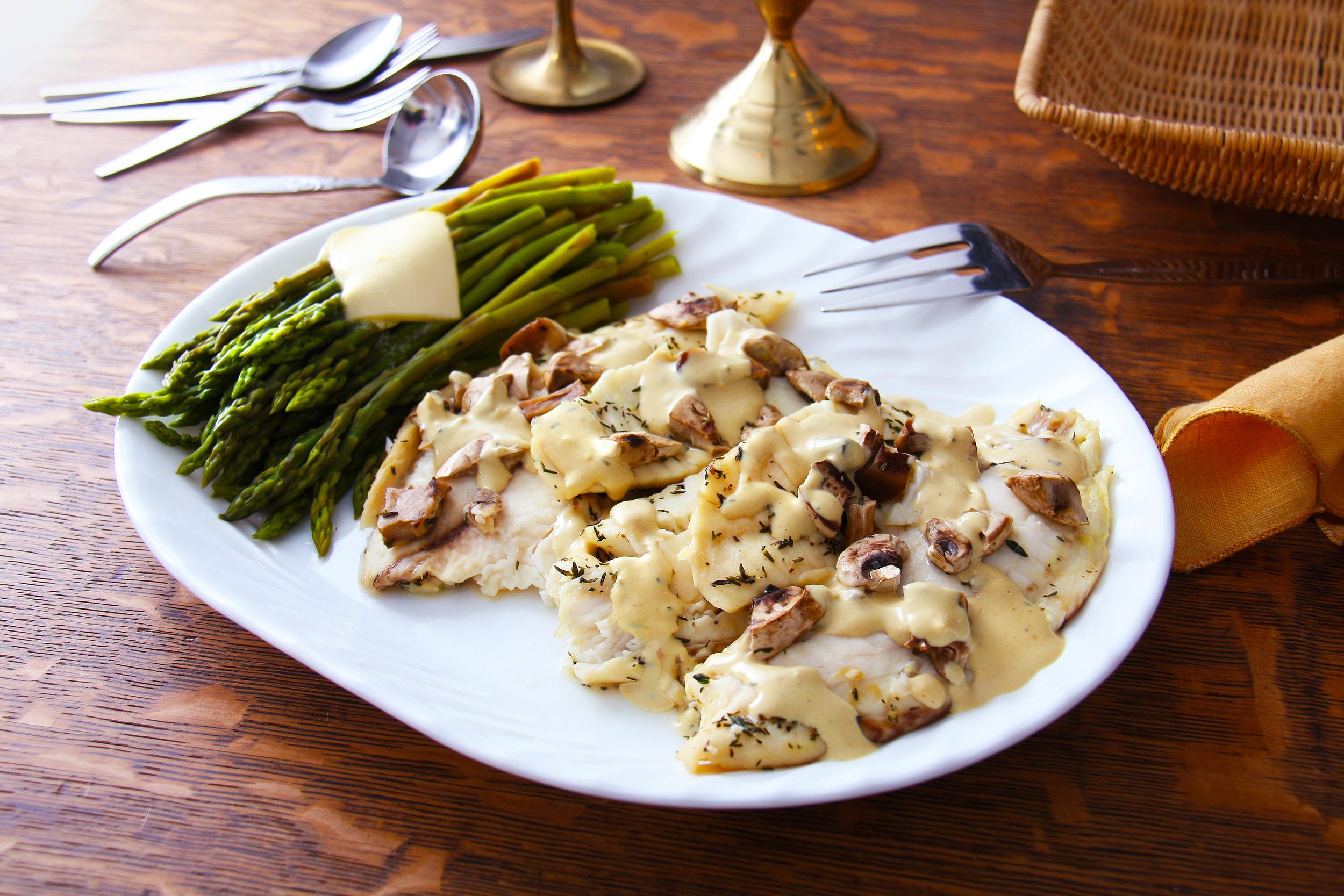 Tilapia in Mustard Cream Sauce