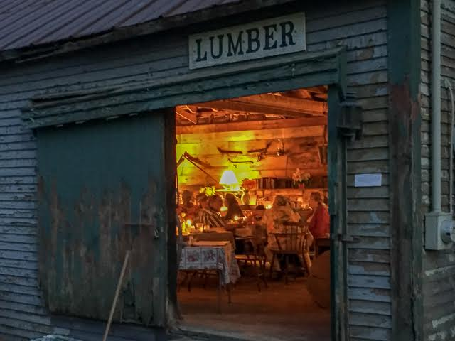 Supper in the Lumber Shed. Photo credit: Lynn Karlin