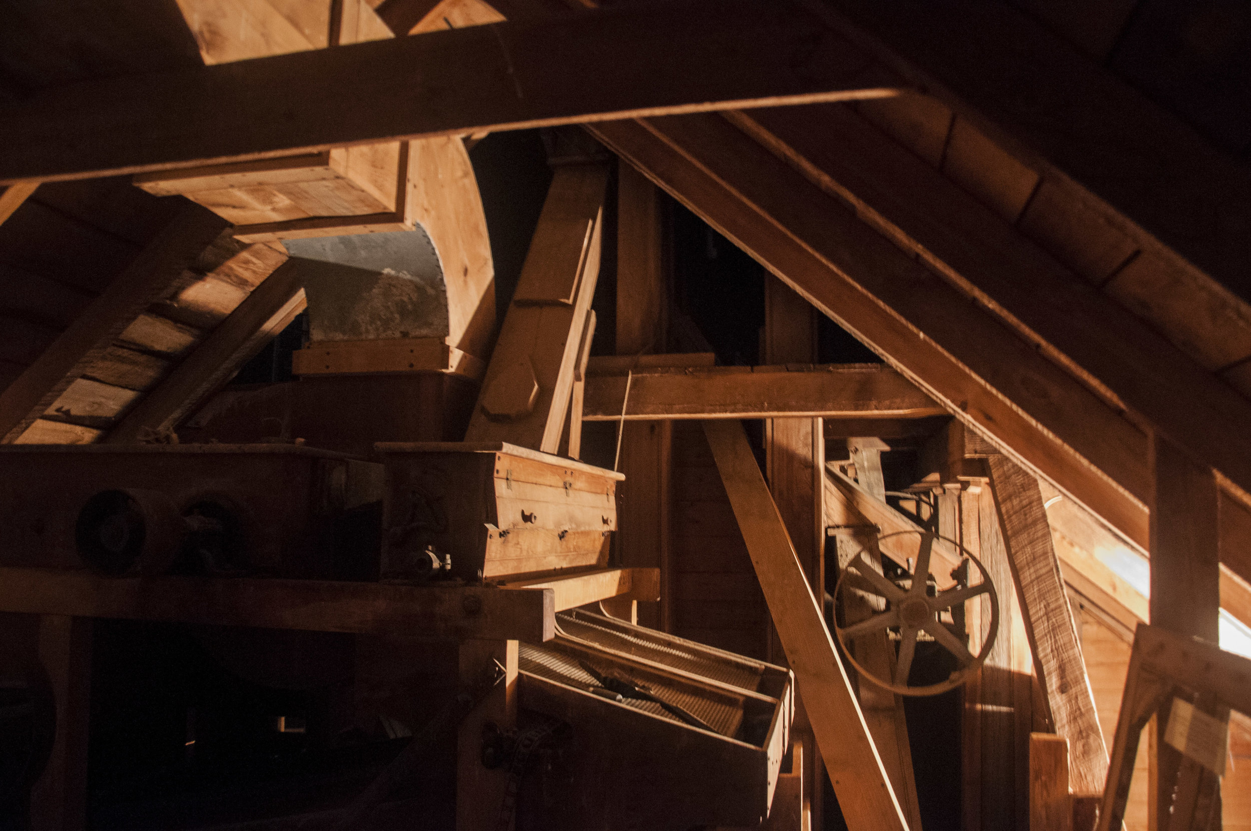 Rafters, Mill interior