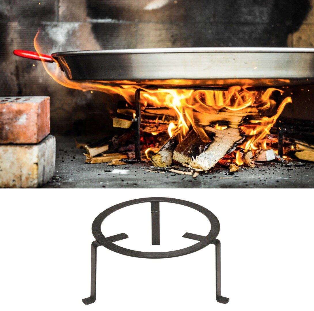 Forged Steel Paella Stand from La Tienda