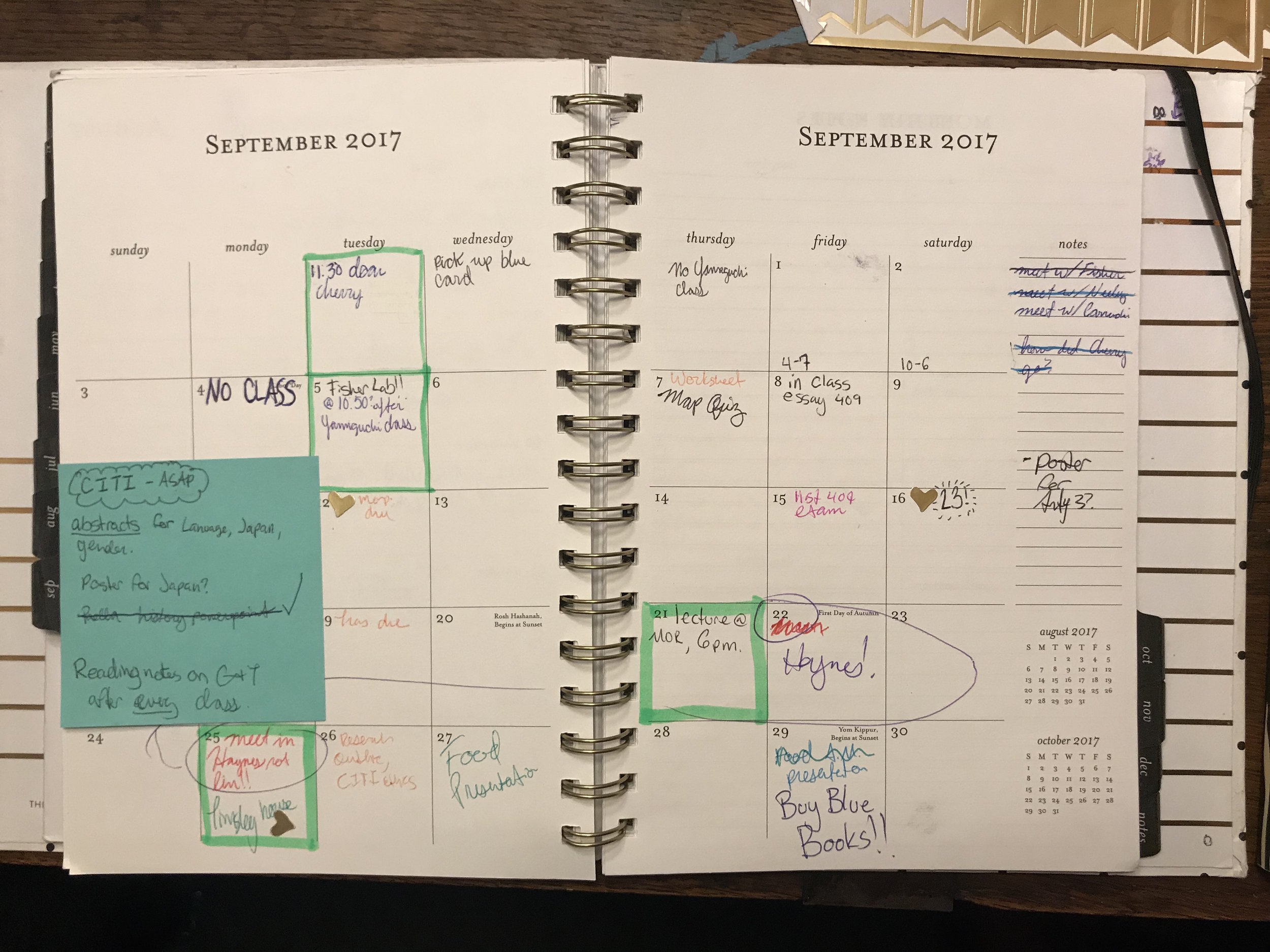 My usual monthly spread in S+P