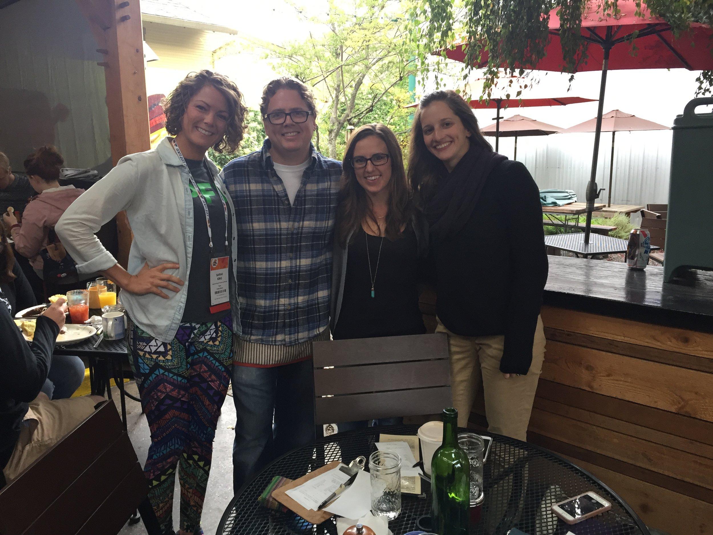 Grabbing breakfast with PD PTs Jennifer Anderson (Root PT) and Naomi Casiro (NeuroFitBC)