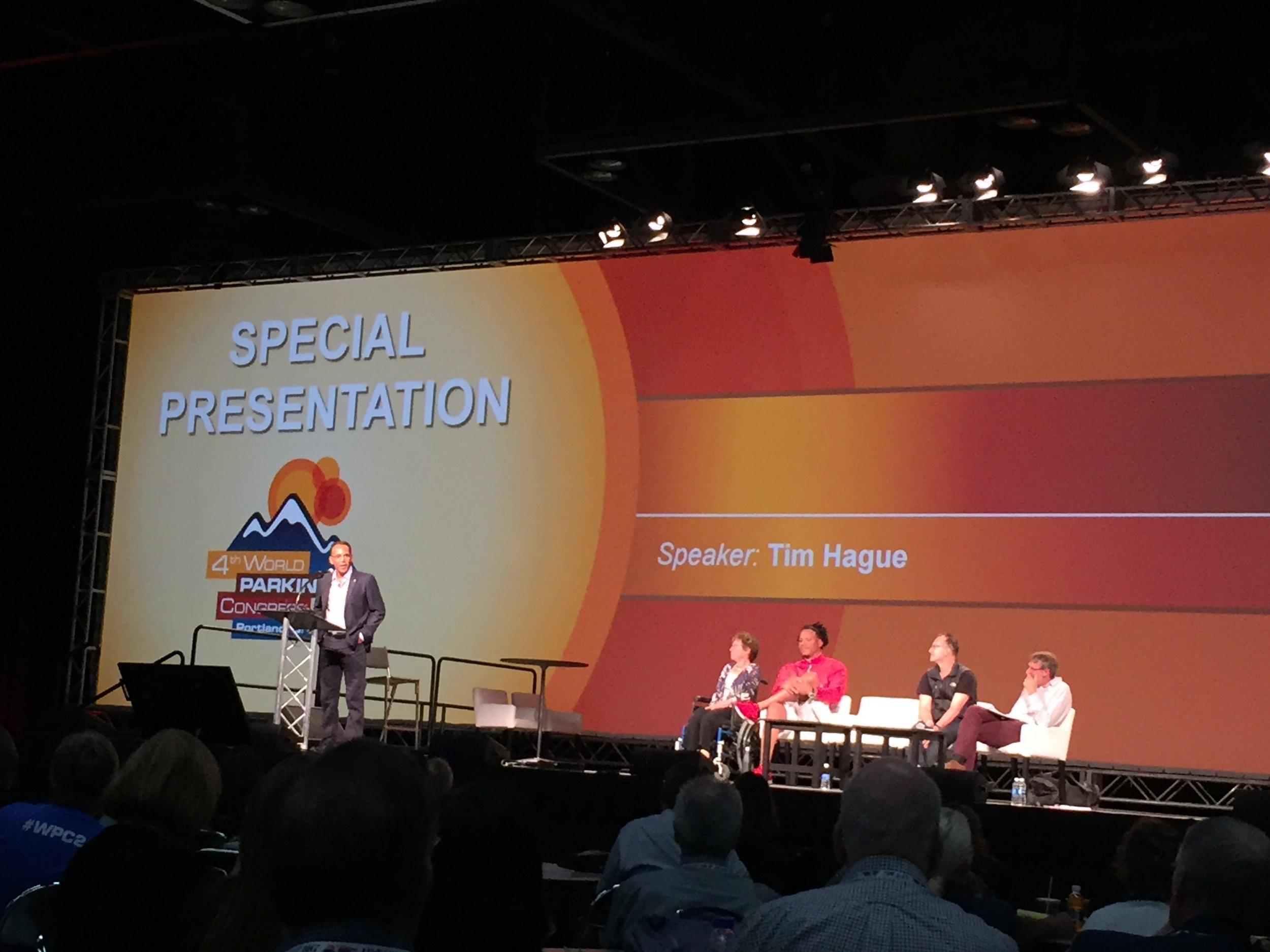 Listening to Tim Hague Sr. speak about Perseverance