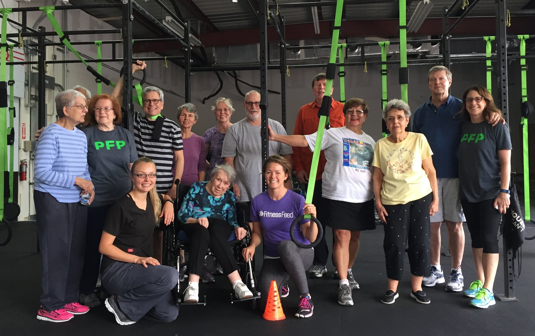 Celebrating the Power for Parkinson's fitness class participants hard work!