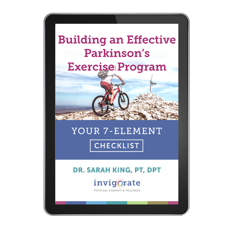 7 Elements of a Highly Effective Parkinsons Exercise Program PDF Checklist by Dr. Sarah King, PT, DPT