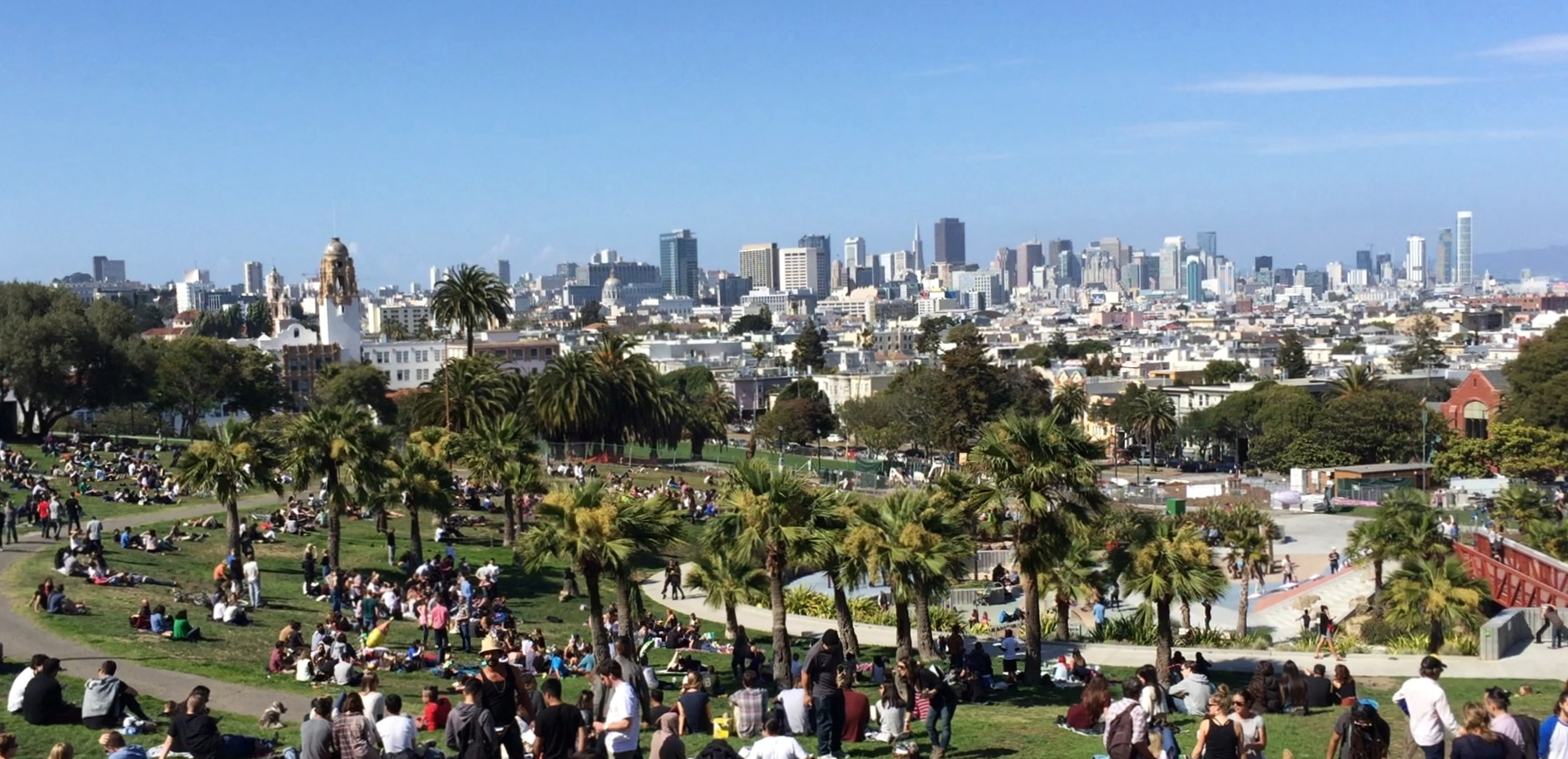 Dolores Park, SF - beating heart of the Mission district and one of my favourite places in the world.