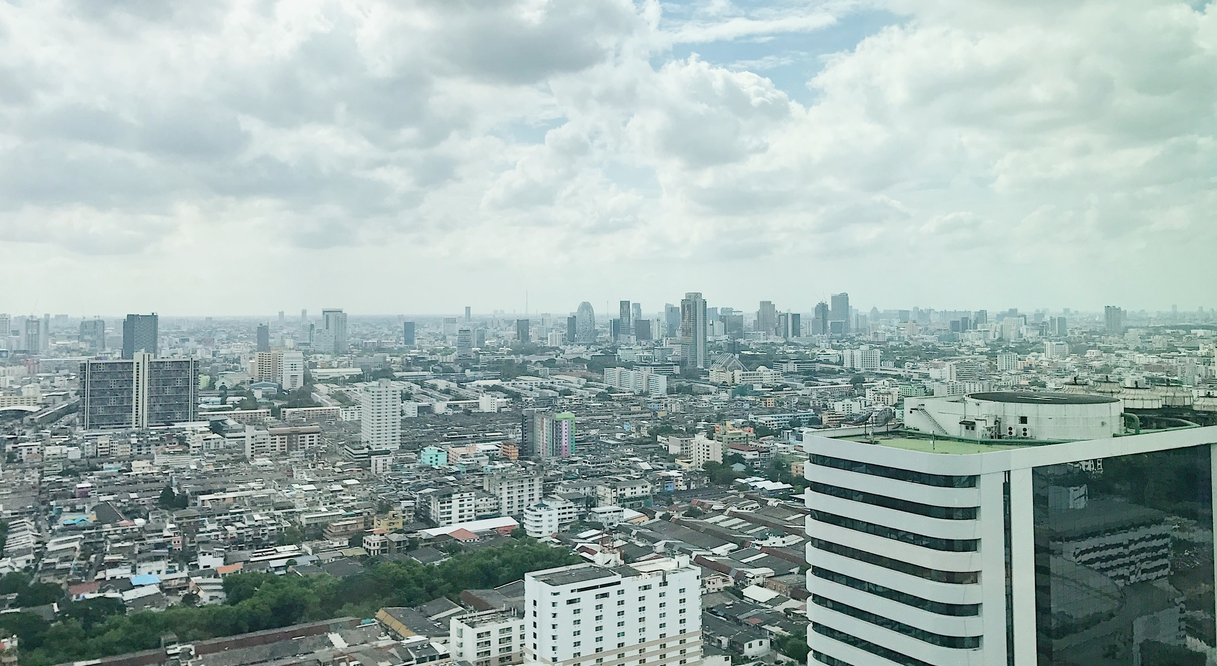View from the 32nd Floor of G Tower, which houses ThoughtWorks' Bangkok office.