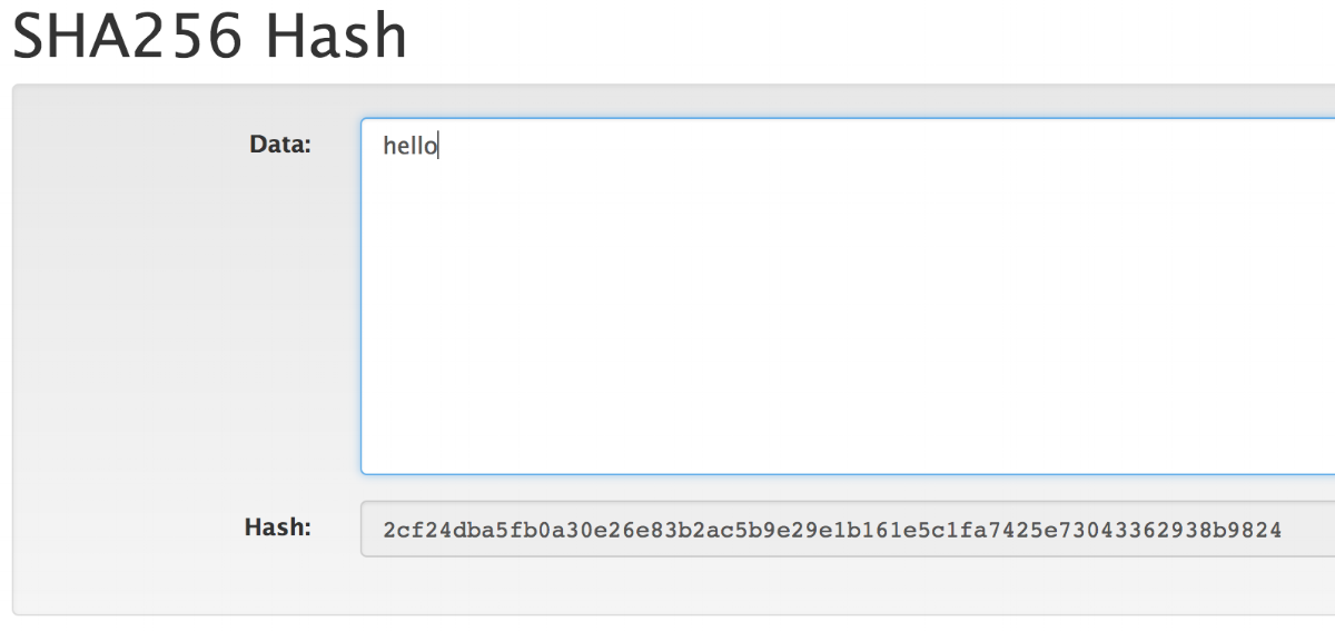 """hello"" has its 64-character hash"