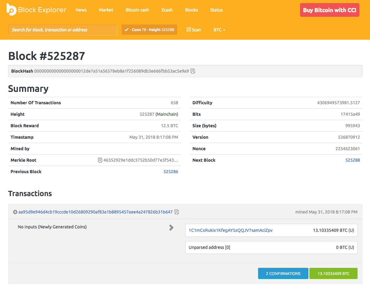 Newly Generated (minted) bitcoins in a transaction block. Current block reward is 12.5 BTC and will halves every 4 years.
