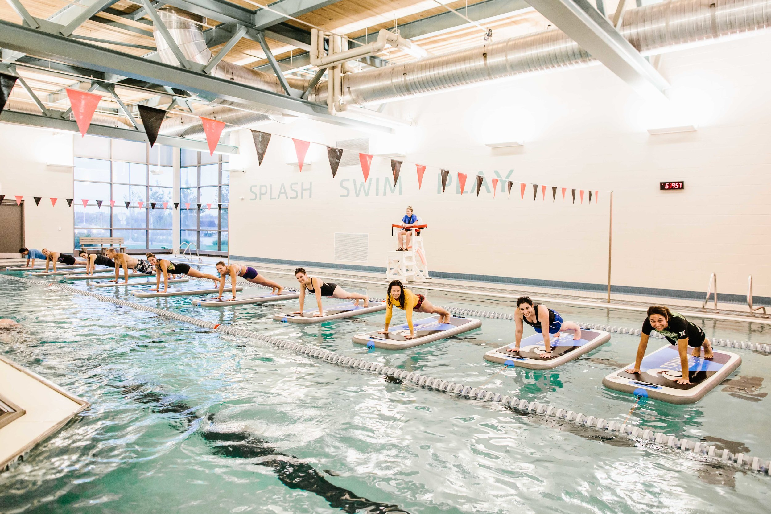 The Class: Fit Float Location:  Irsay Family YMCA Downtown Indianapolis  | Photo Cred:  Cotangent Studio