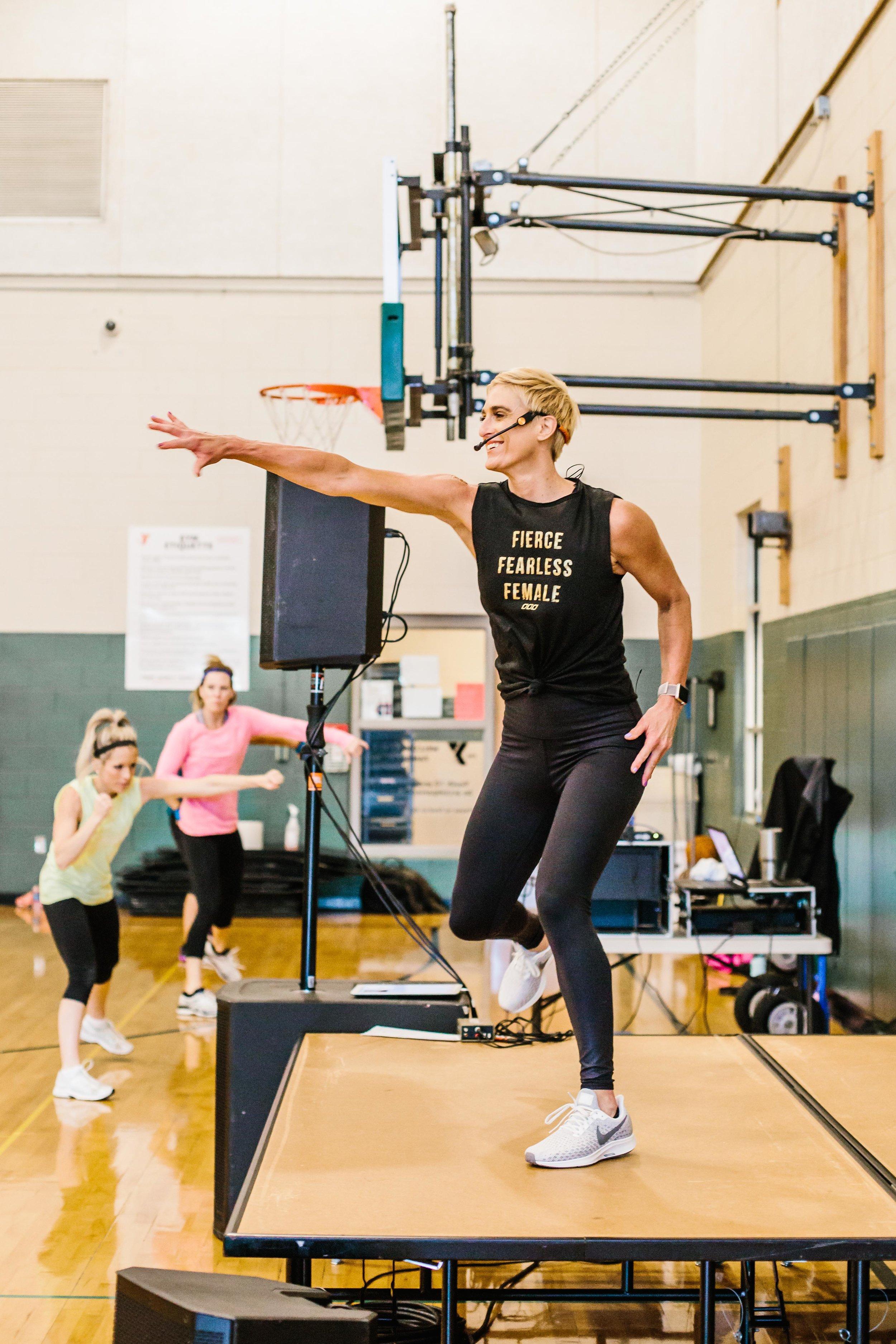 The Class: Fierce Fit Instructor:  Julie Voris  | Location:  Fishers YMCA  | Photo Cred:  Cotangent Studio