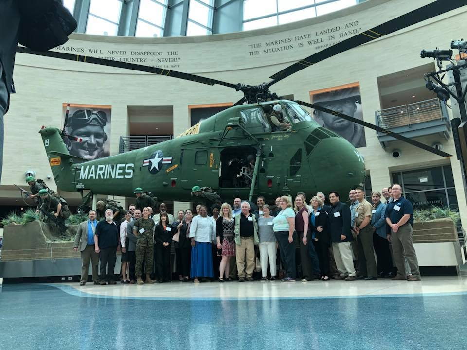 Leatherneck Gallery in front of the Vietnam tableau. Attendees of the Combat Art Symposium 2018. — in Triangle, just outside Marine Corps Base,  Quantico .