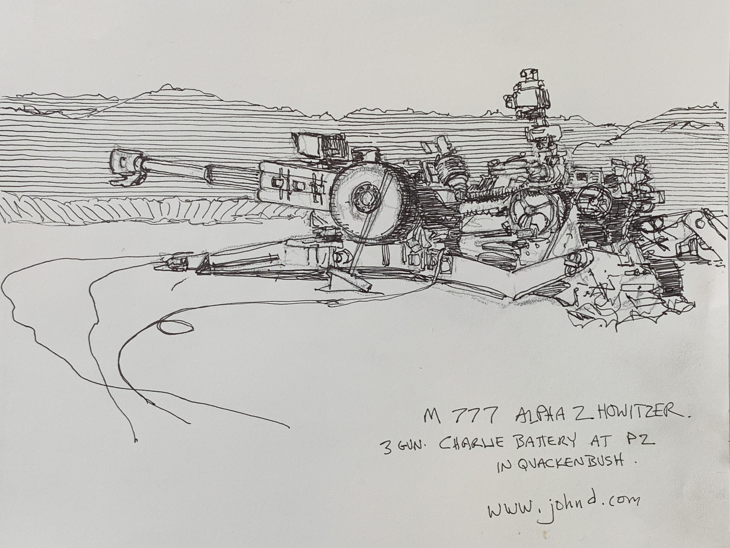 M777 Alpha 2 155mm Howitzer from Charlie Battery 1/11