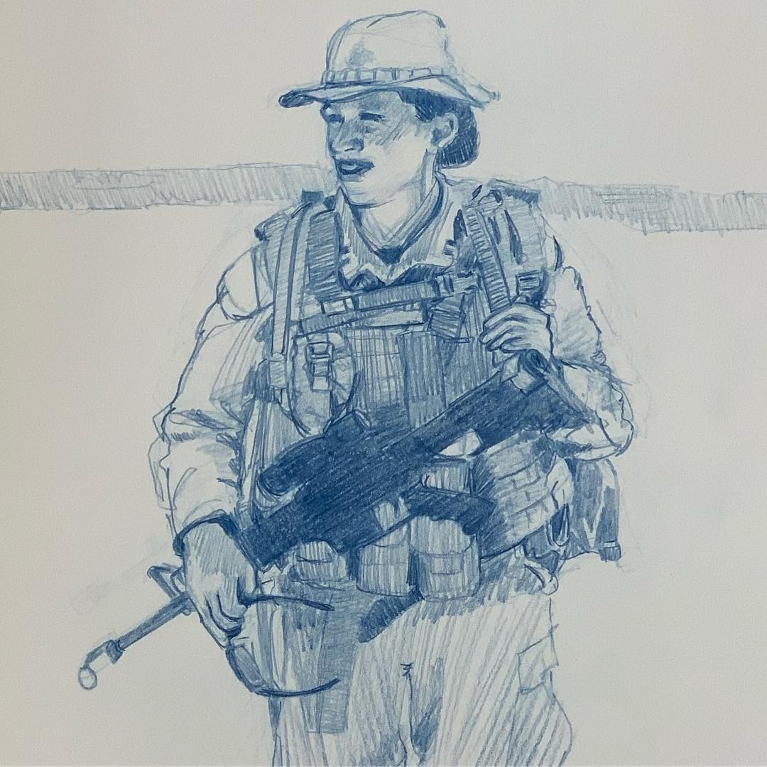 92 degrees in the Mojave Desert, 80 lbs of equipment and an M-16, Captain KB Hill goes out for three miles of her personal PT