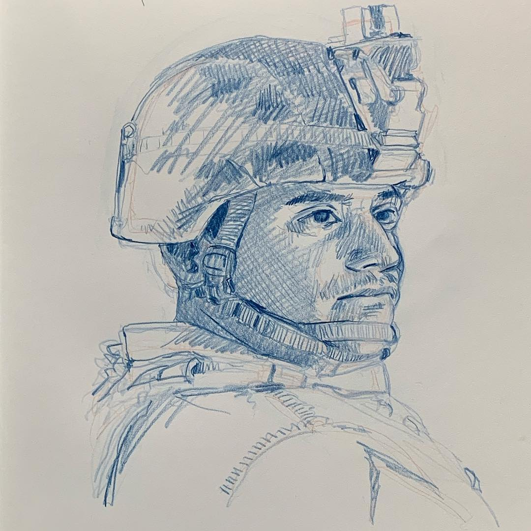 Corporal G.A. Cortez from 1st Battalion, 5th Marine Regiment. He was with the Battalion Landing Team that came out to resupply the Artillery in the field and gave me a ride back to Camp Wilson.