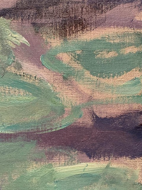 He used very fine linen on large paintings