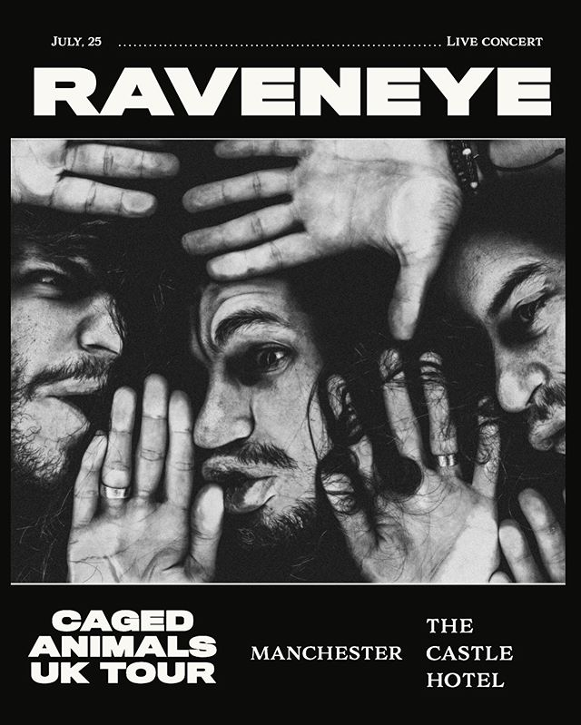 Who is ready for our last show on our Caged Animals UK Pre Album your?! Manchester. Who is coming to party? 💥🔥🥃🍸🍹🍺🍻🥂🍾🥳🤘💀. . . #manchester #thecastlehotel #rockshow #grunge #raveneye #sweat #tour #cagedanimals #lastshow #uk #music #live