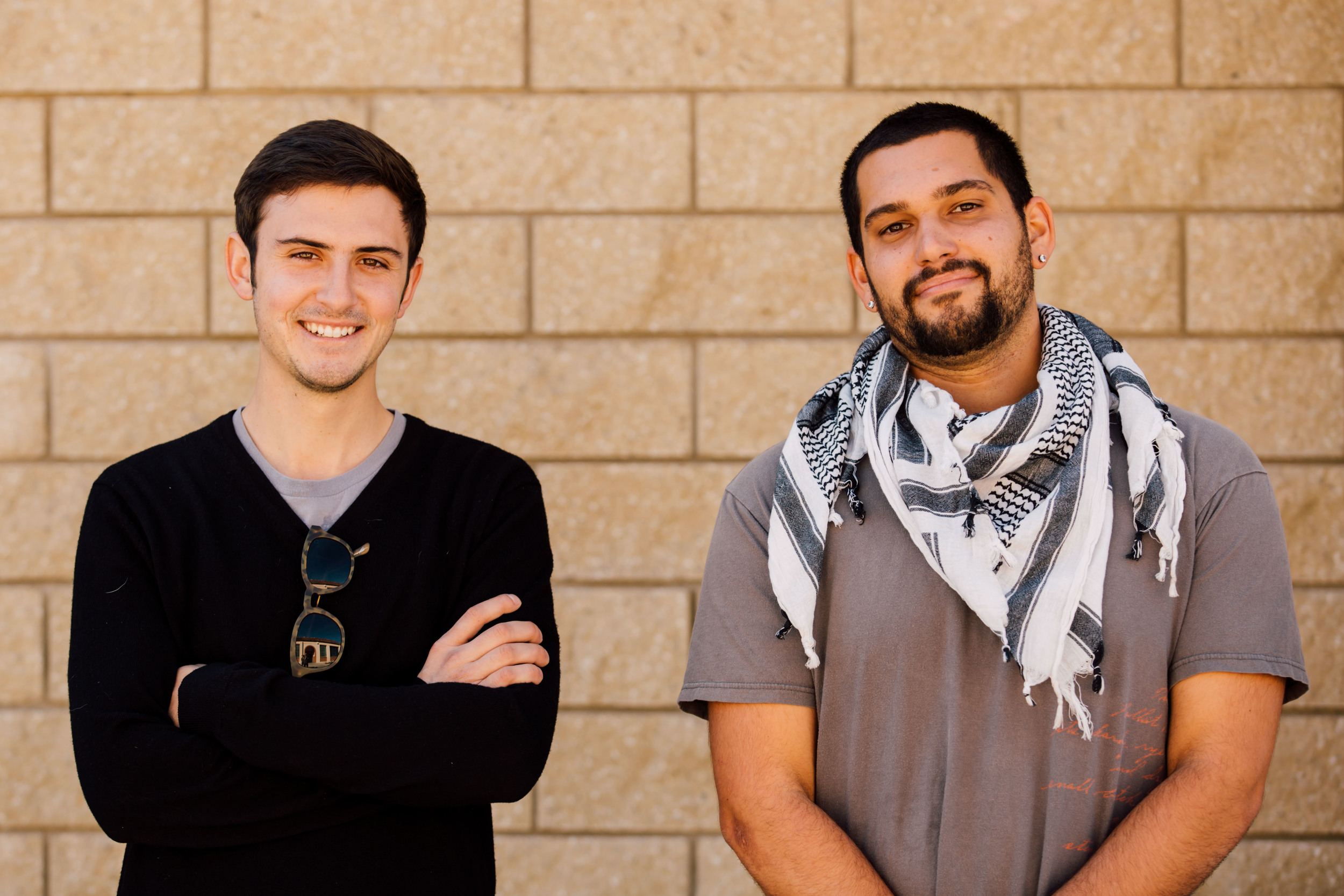From left to right, Brett Bollier, Ben Johnson