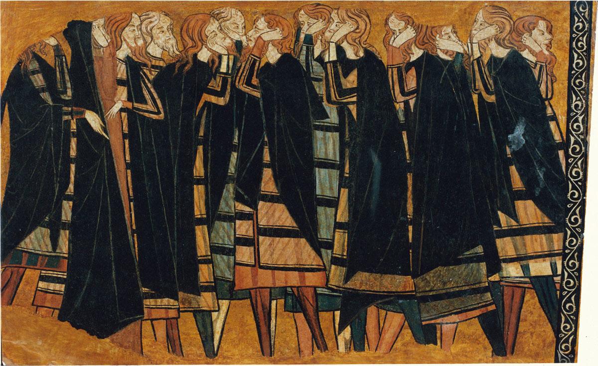 Painel encontrado no túmulo do cavaleiro Sancho Sánchez Carrillo e sua mulher, Juana. O artista, de nome desconhecido, produziu a obra por volta de 1295. No desenho, há carpideiras, que choram, arrancam os cabelos e machucam seus rostos enquanto velam o morto