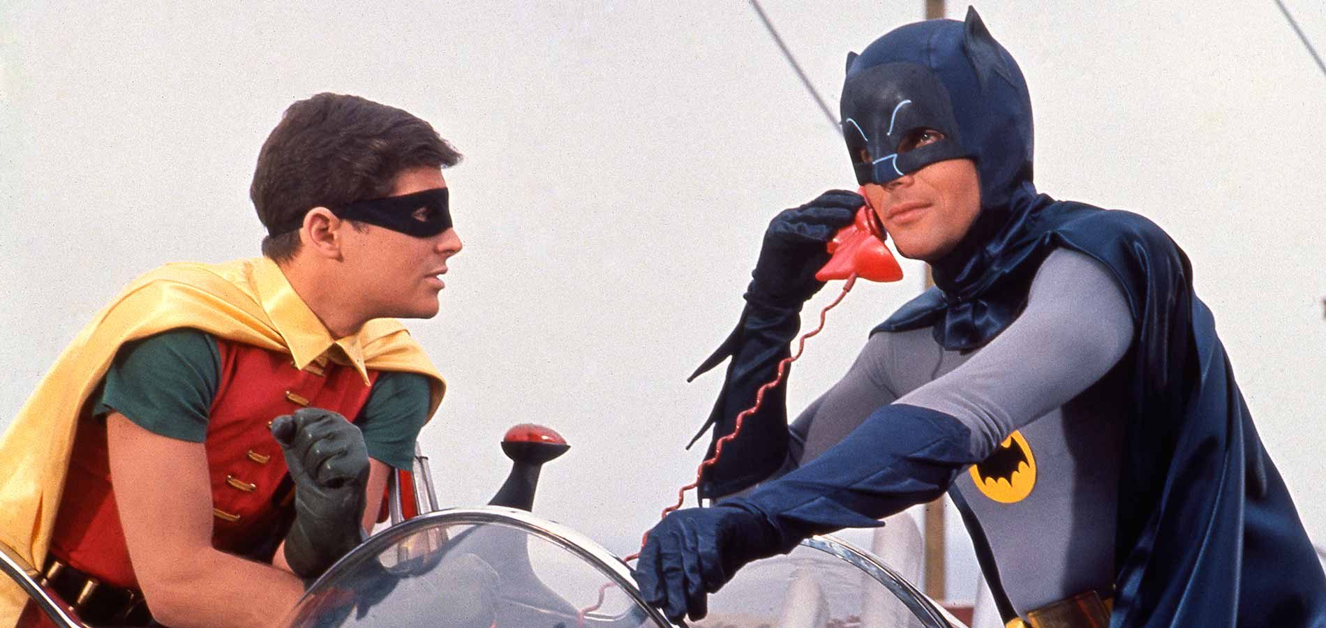 Real-life depiction of me in action on the Bat Phone.