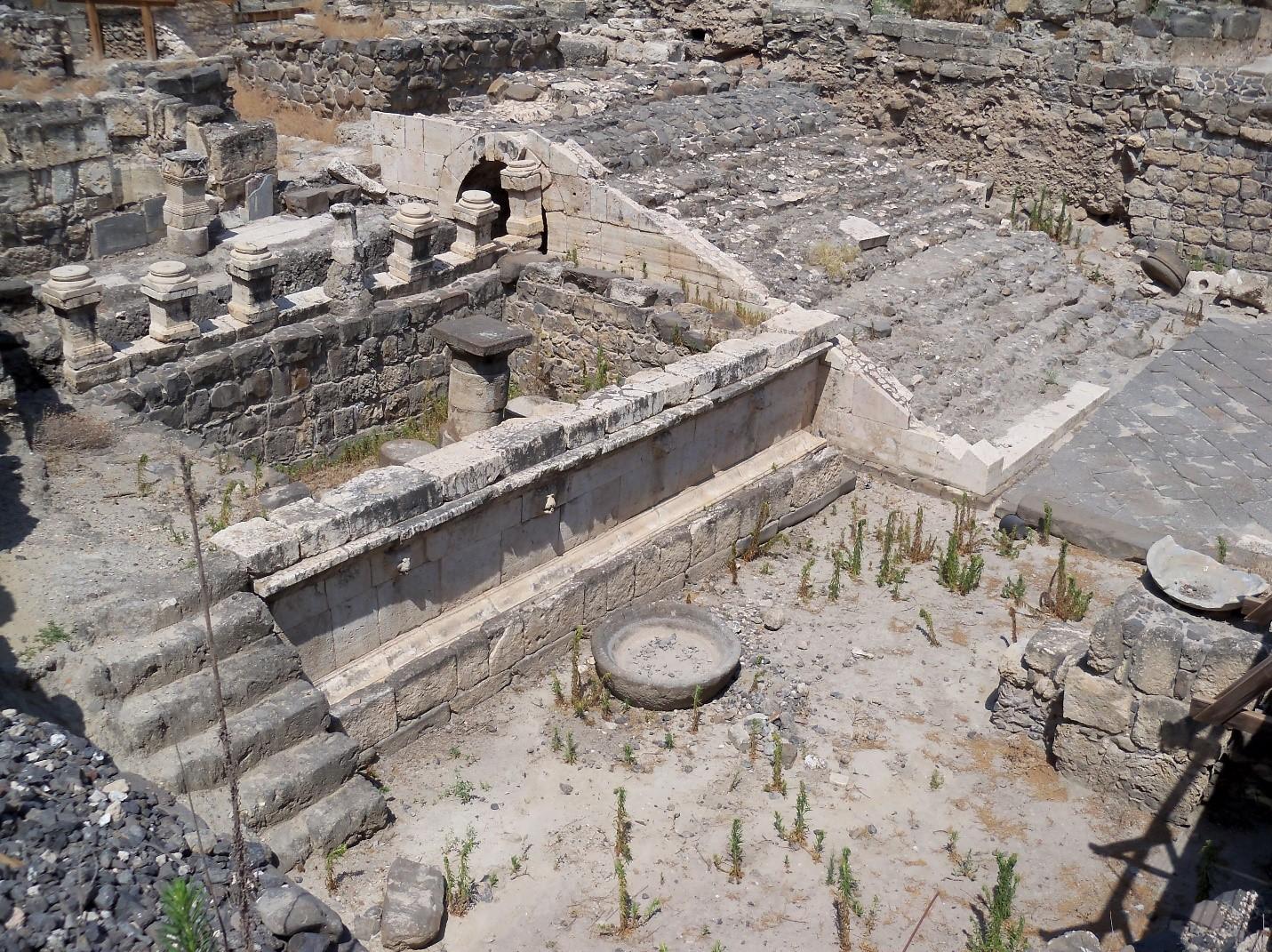 Ceremonial washing area in Roman-era temple
