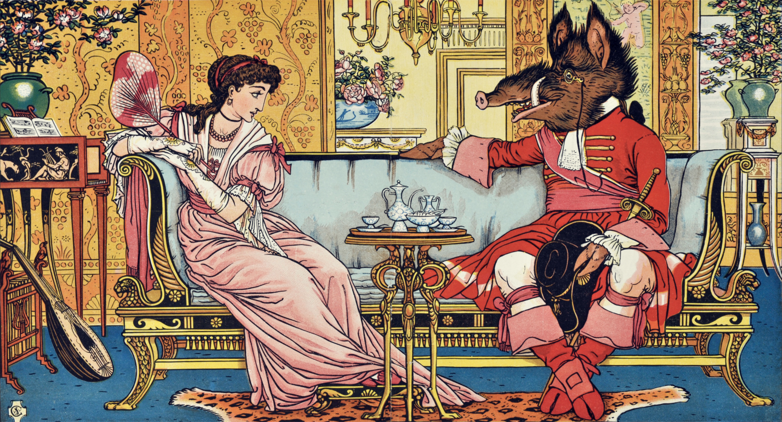 Beauty and the Beast by Walter Crane, 1874
